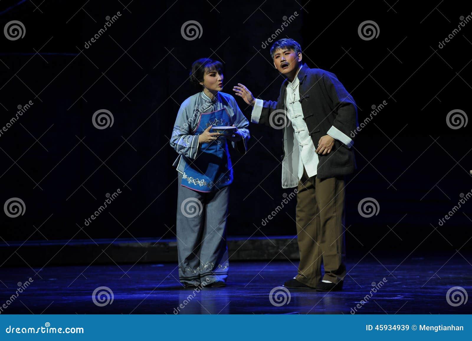 Mąż i żona dyskutujemy środka zaradczego Jiangxi operę bezmian