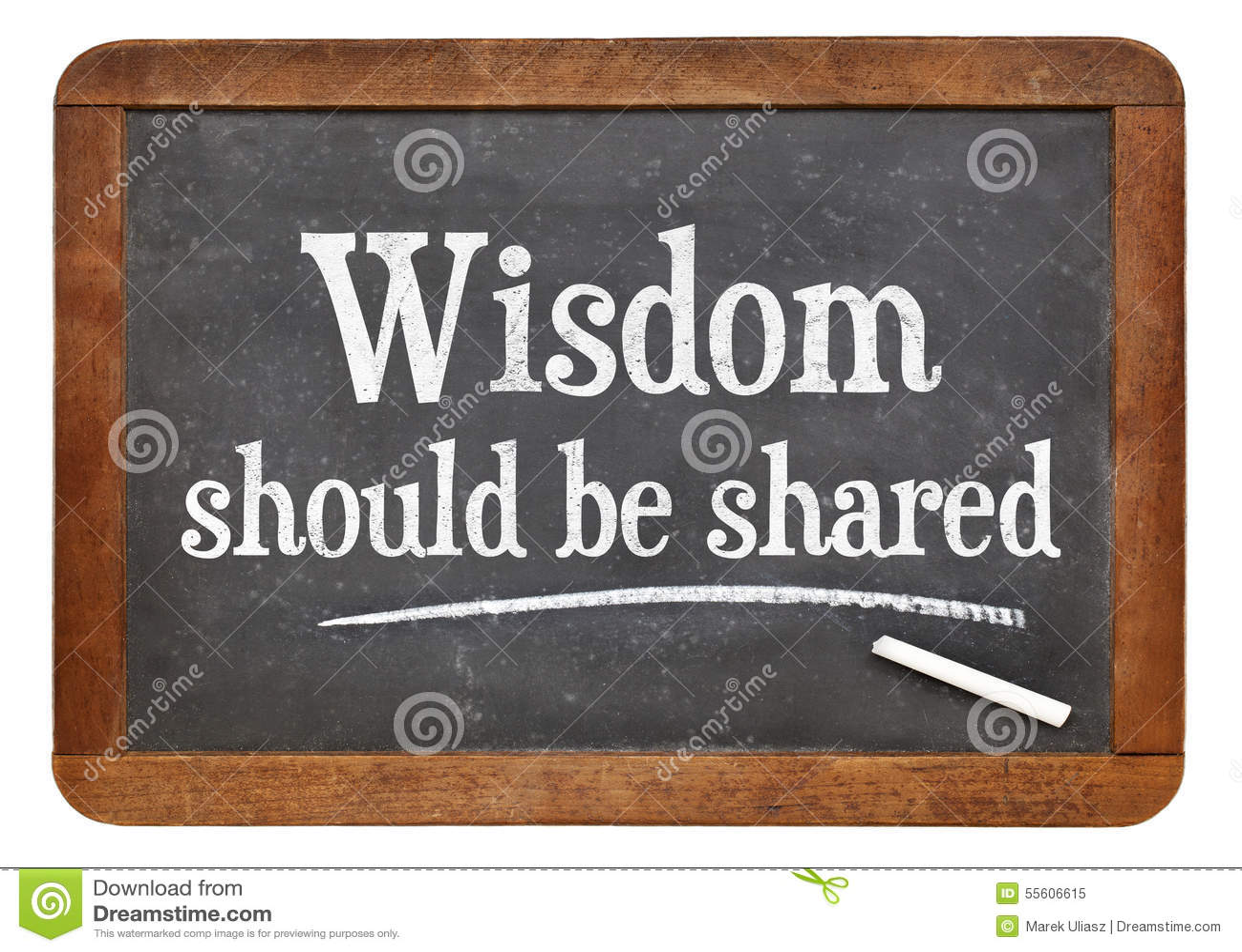 Mądrość musi być częścią na blackboard