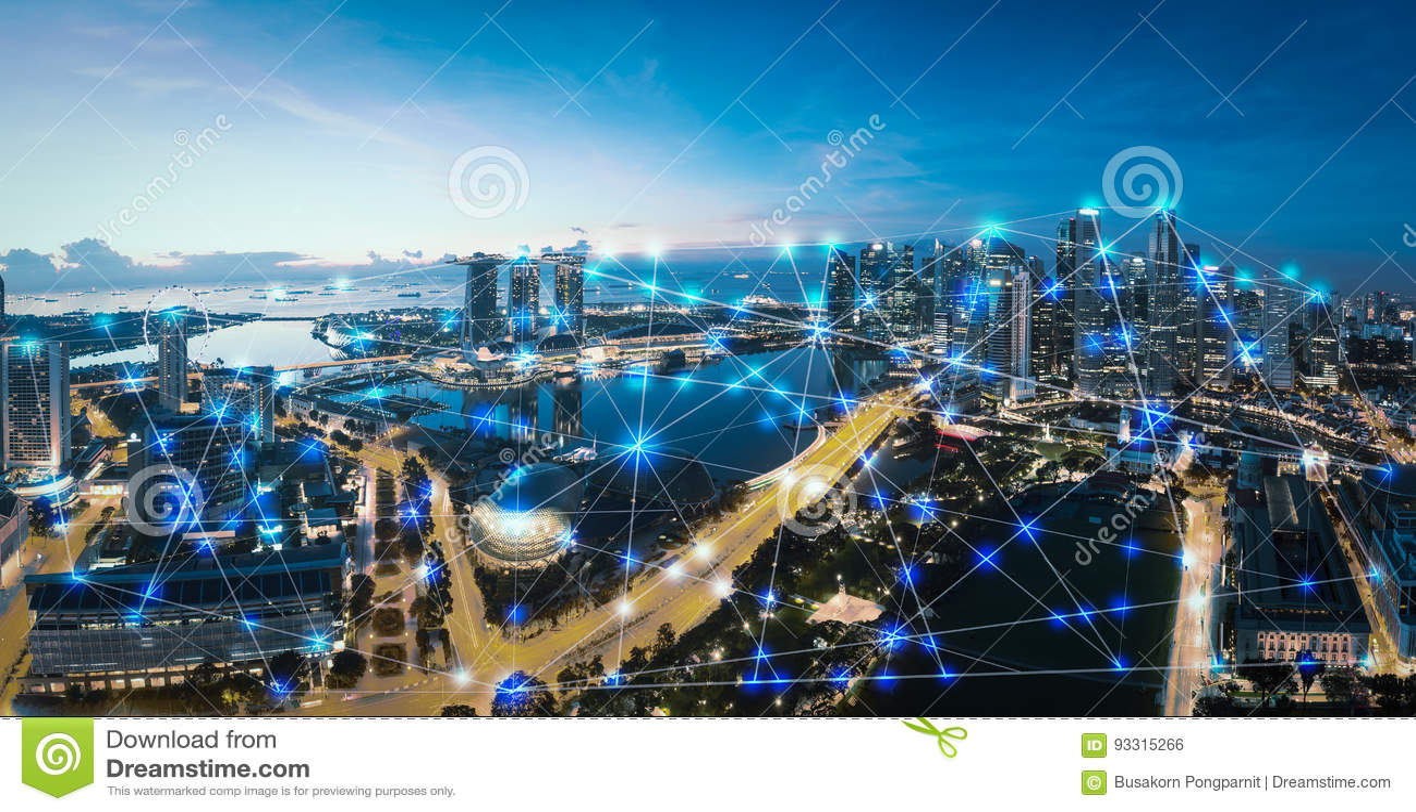 Mądrze internet rzeczy i, bezprzewodowa sieć komunikacyjna