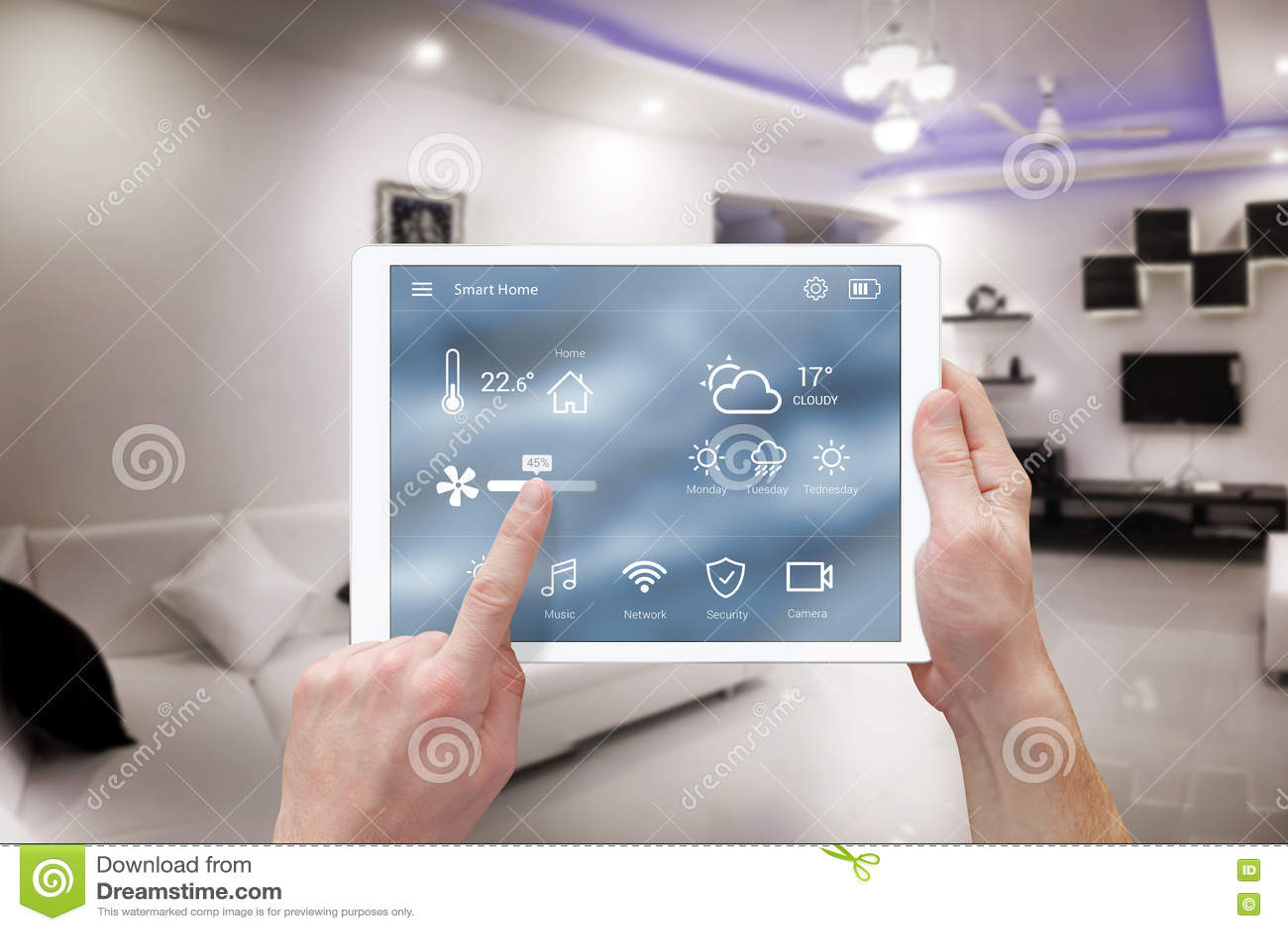 Mądrze pilota domu system kontrolny app