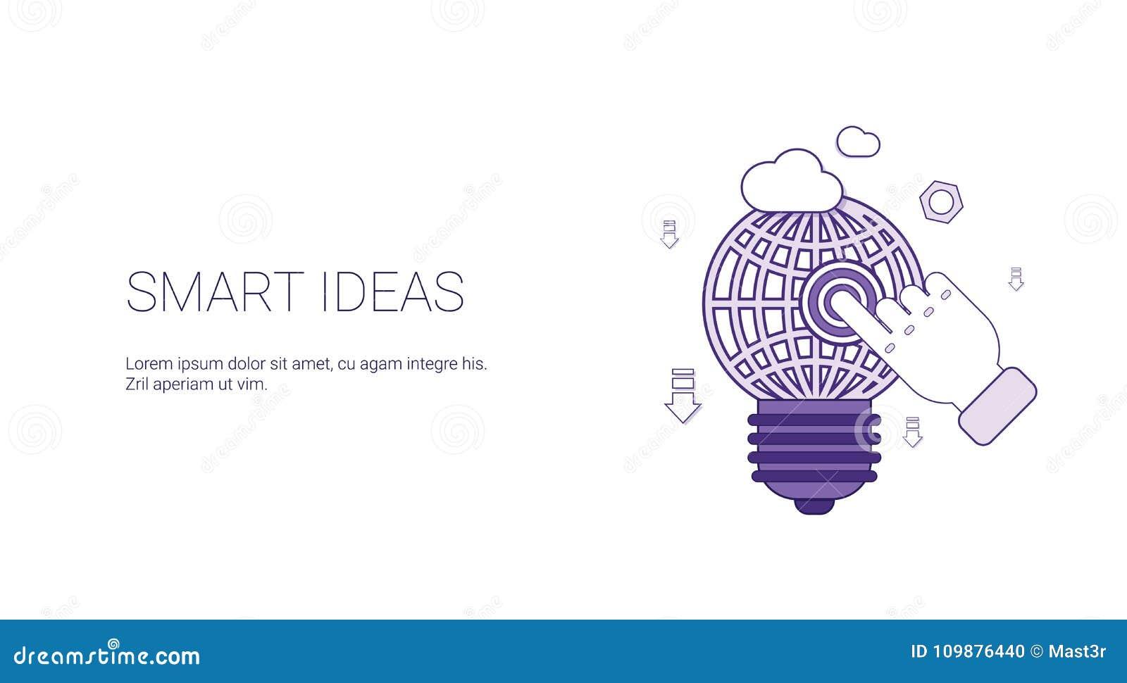 Mądrze pomysł sieci sztandar Z kopii przestrzeni rozwoju Biznesowym Kreatywnie pojęciem