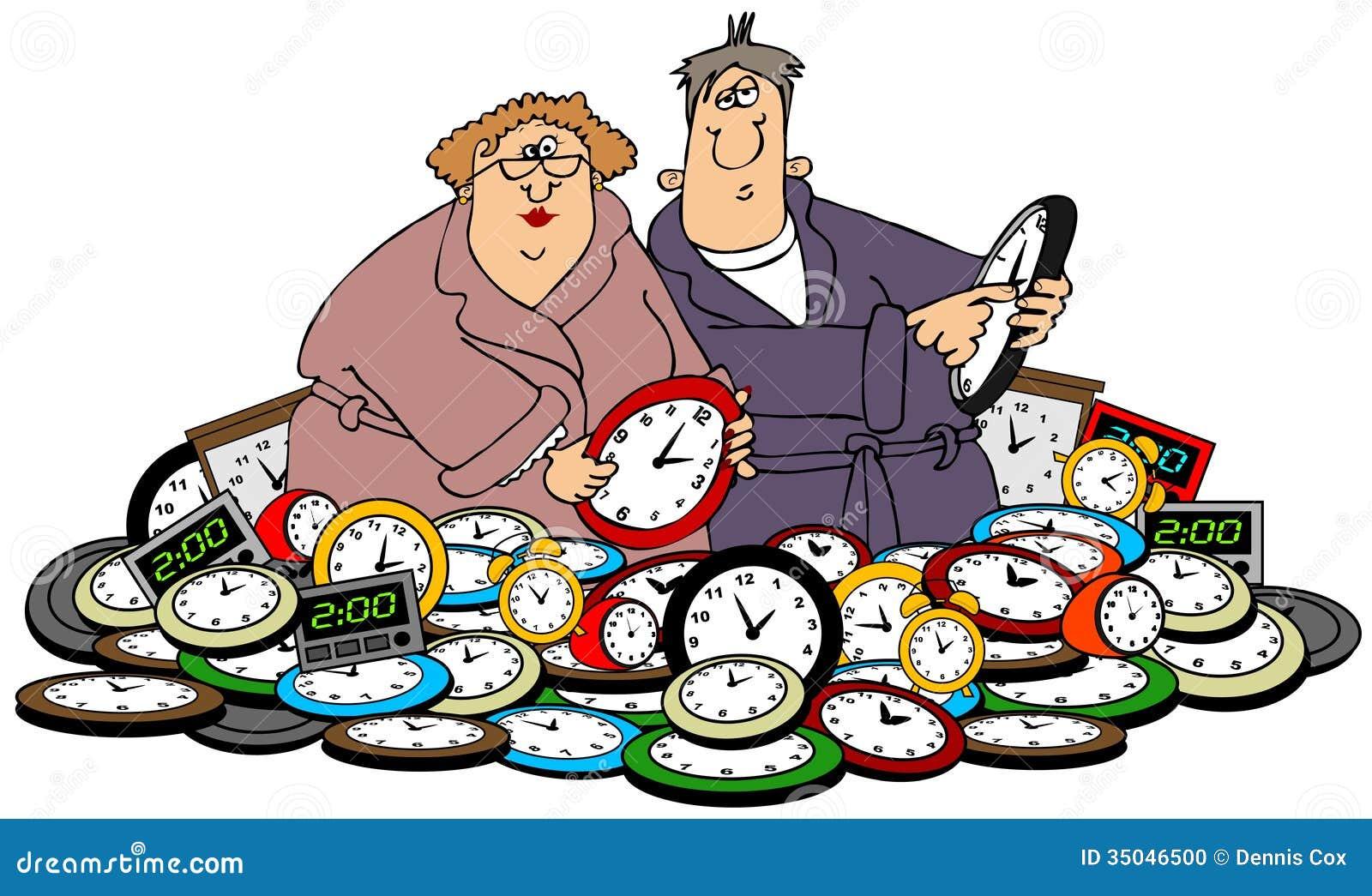 Męża & żony położenia zegary