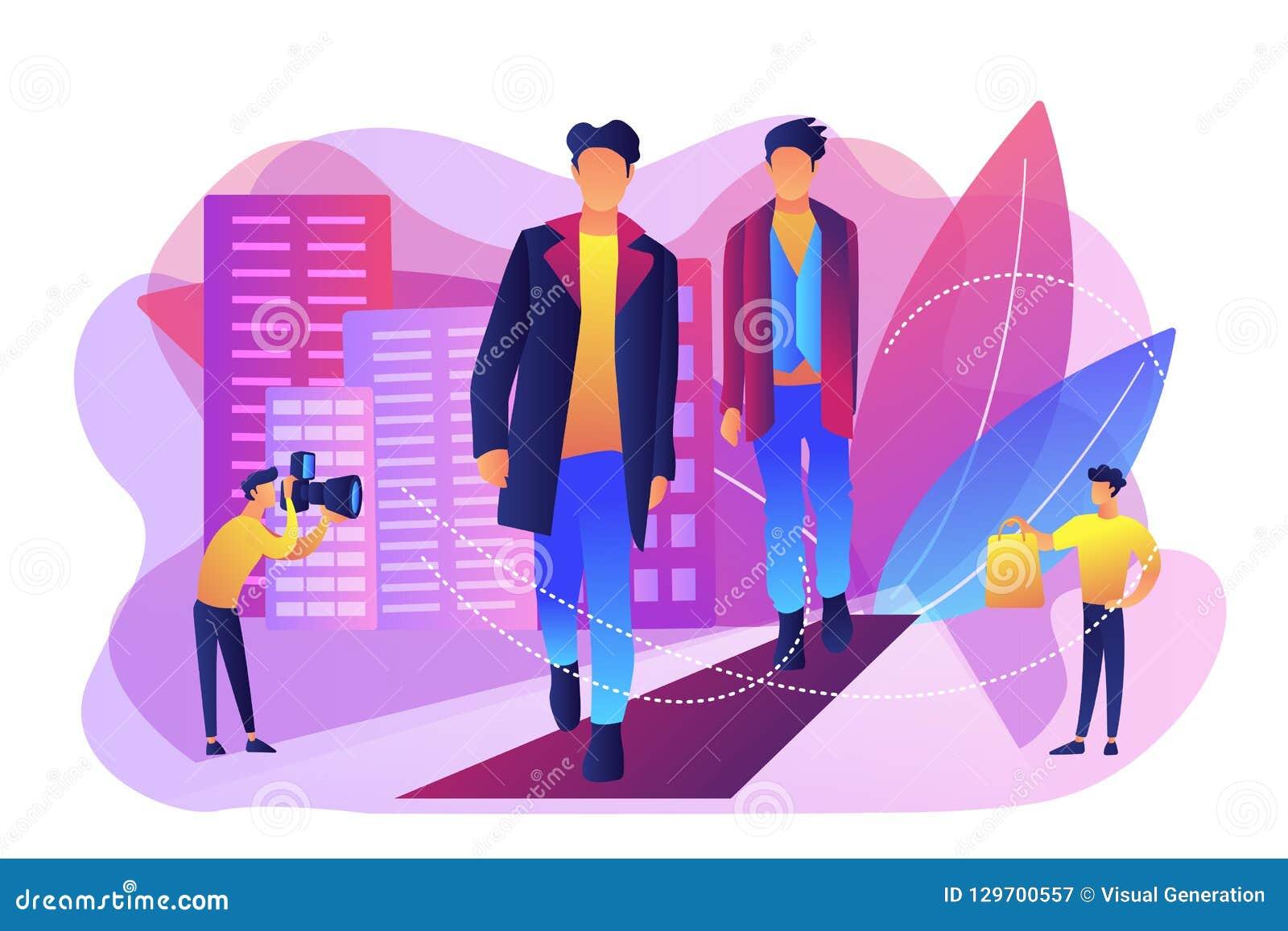Mężczyźni stylowi i mody pojęcia wektoru ilustracja