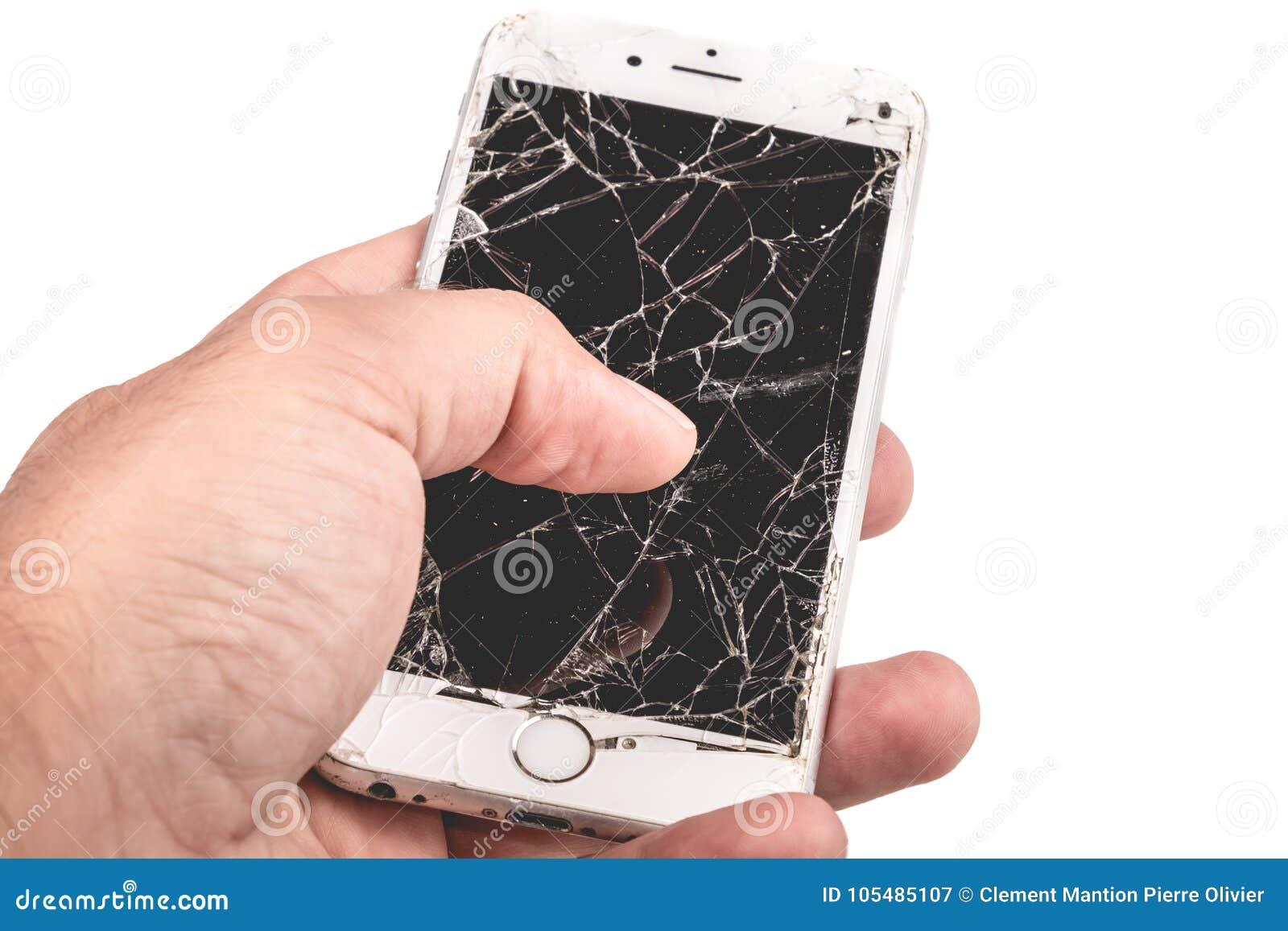 Mężczyzna chwyty w jego wręczają iphone 6S Apple Inc