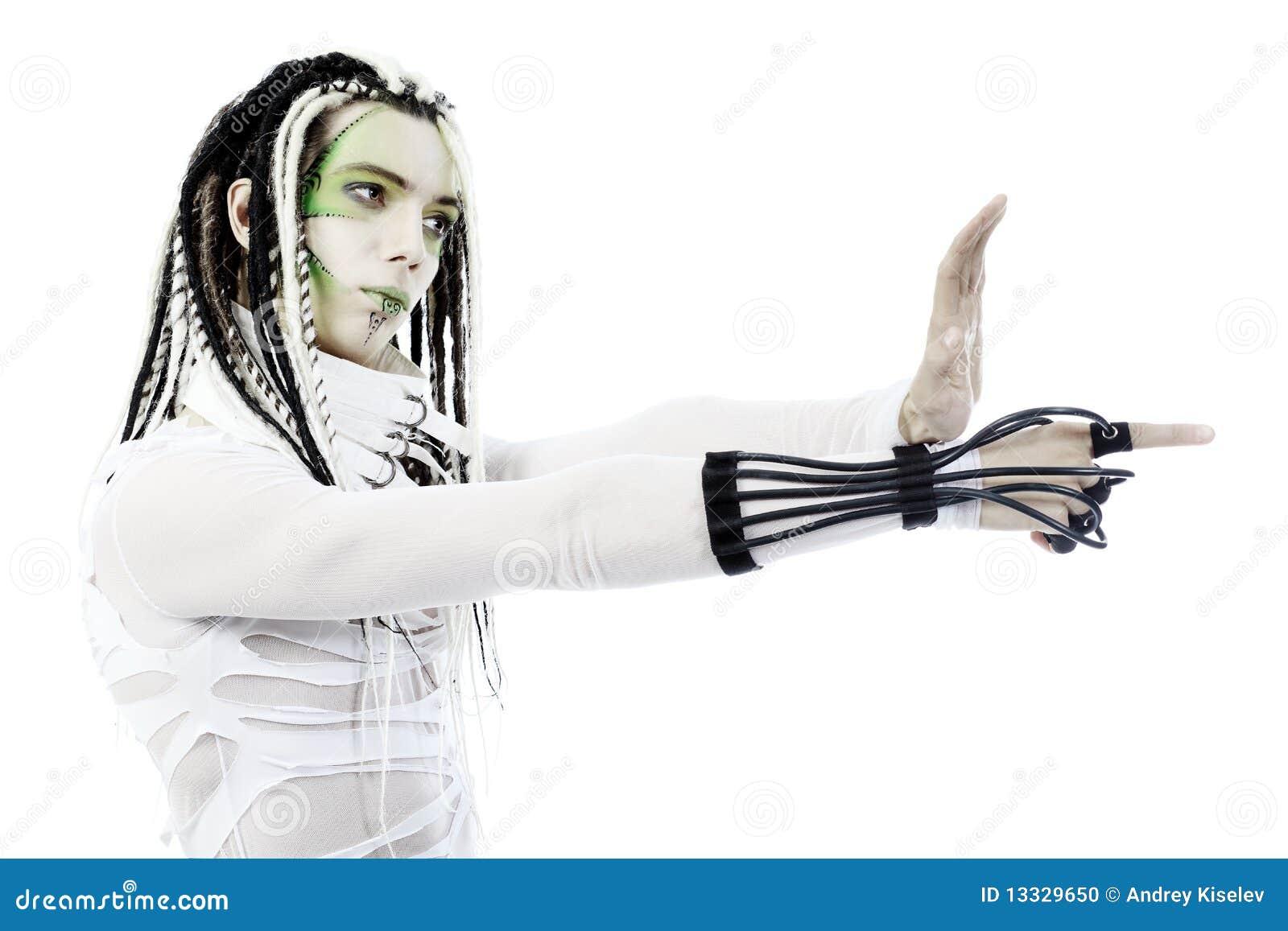 Mężczyzna druty