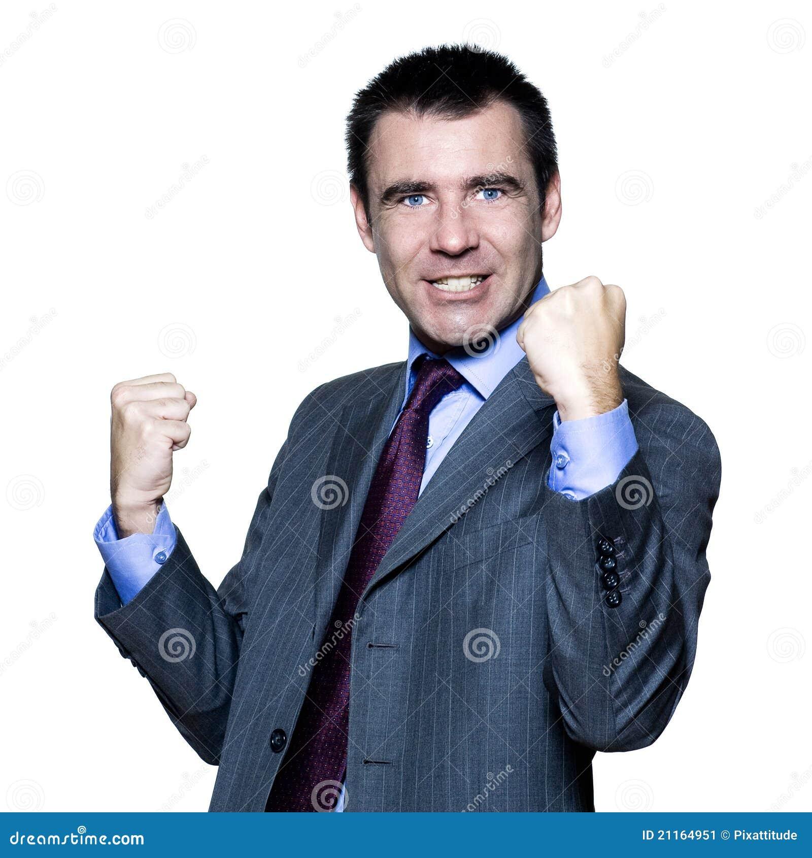 Mężczyzna ekspresyjny przystojny szczęśliwy portret