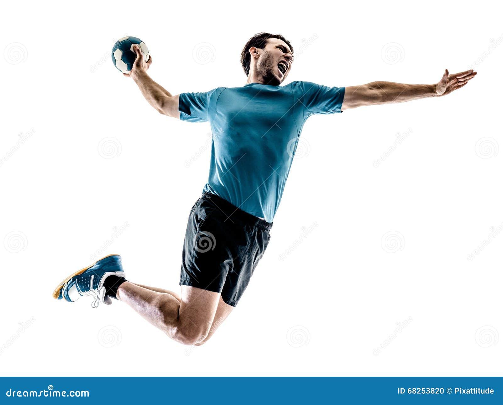 Mężczyzna handball gracz odizolowywający
