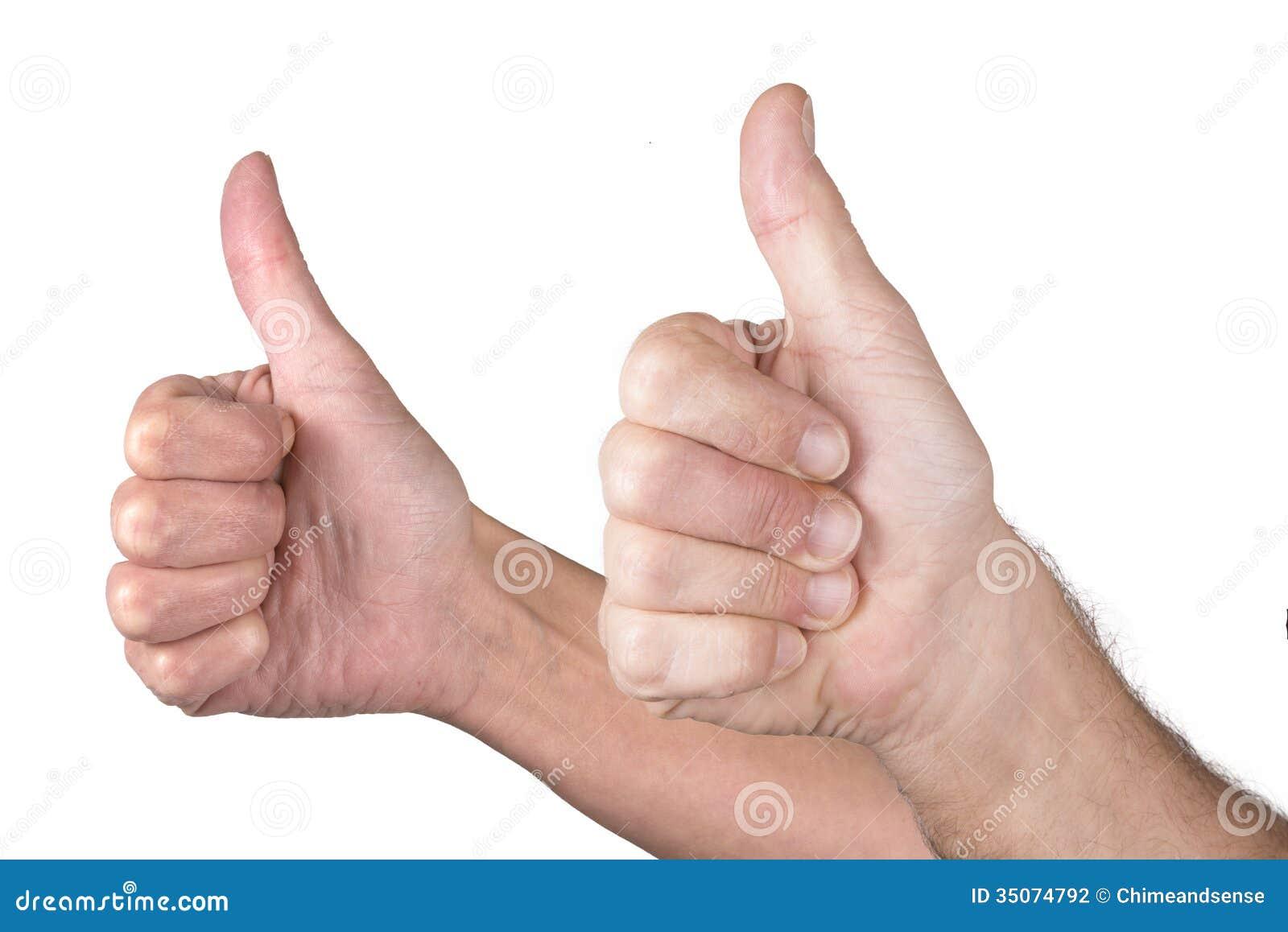 Mężczyzna i kobiety kciuk up