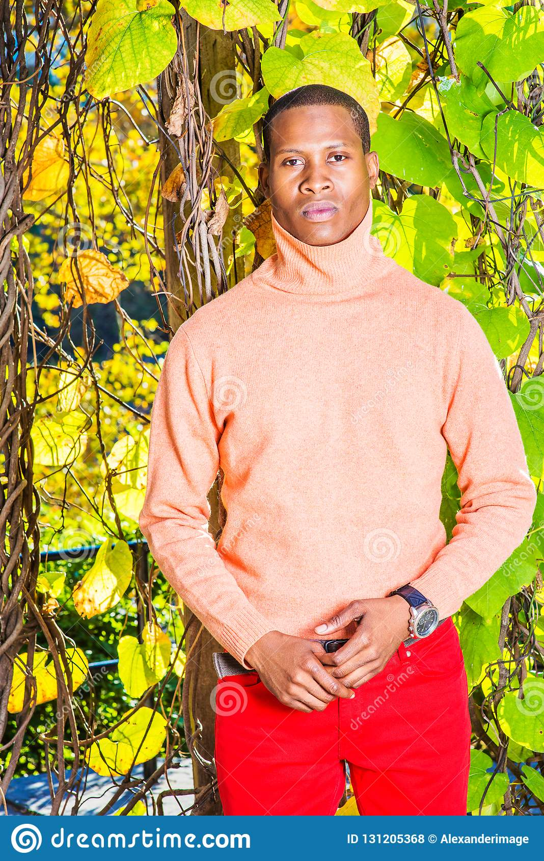 Mężczyzna jesieni Przypadkowa moda w Nowy Jork
