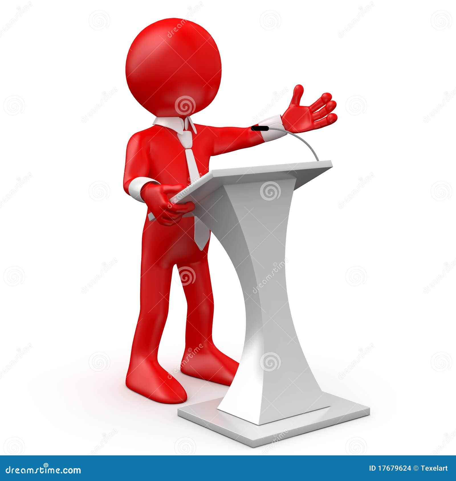 Mężczyzna konferencyjny mówienie