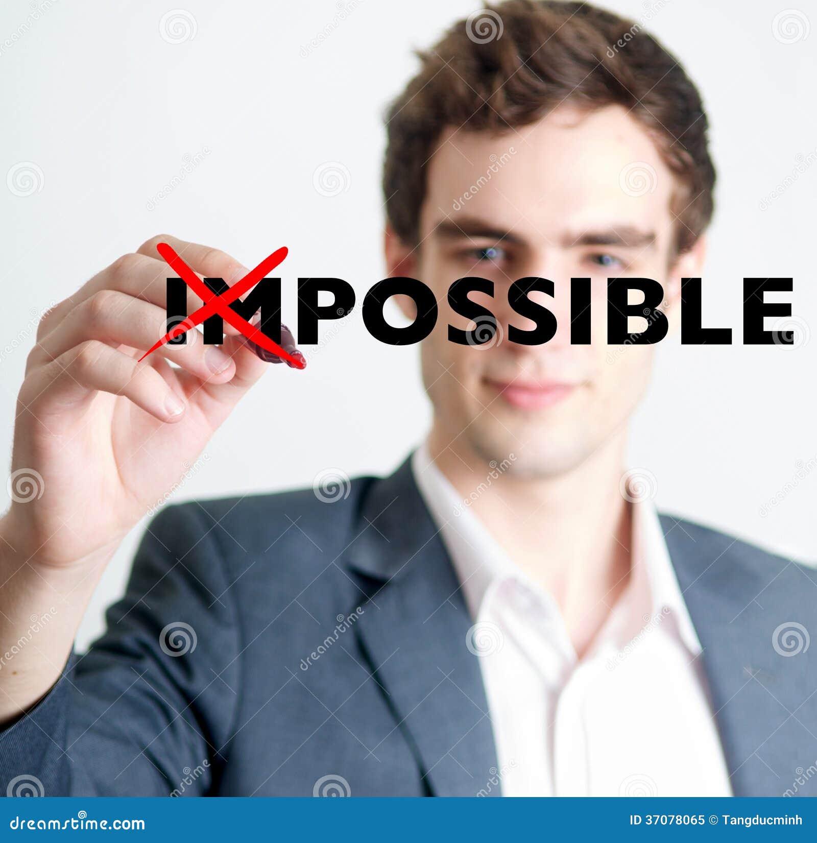 Download Mężczyzna Krzyżuje Out Niemożliwego Pojęcie Obraz Stock - Obraz złożonej z formalny, stażysta: 37078065