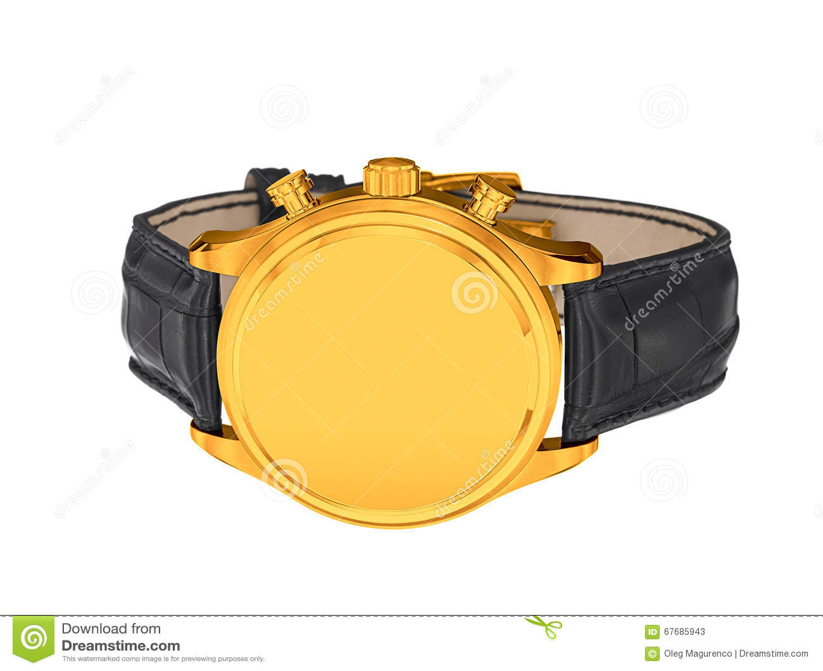 Mężczyzna luksusowy złocisty wristwatch