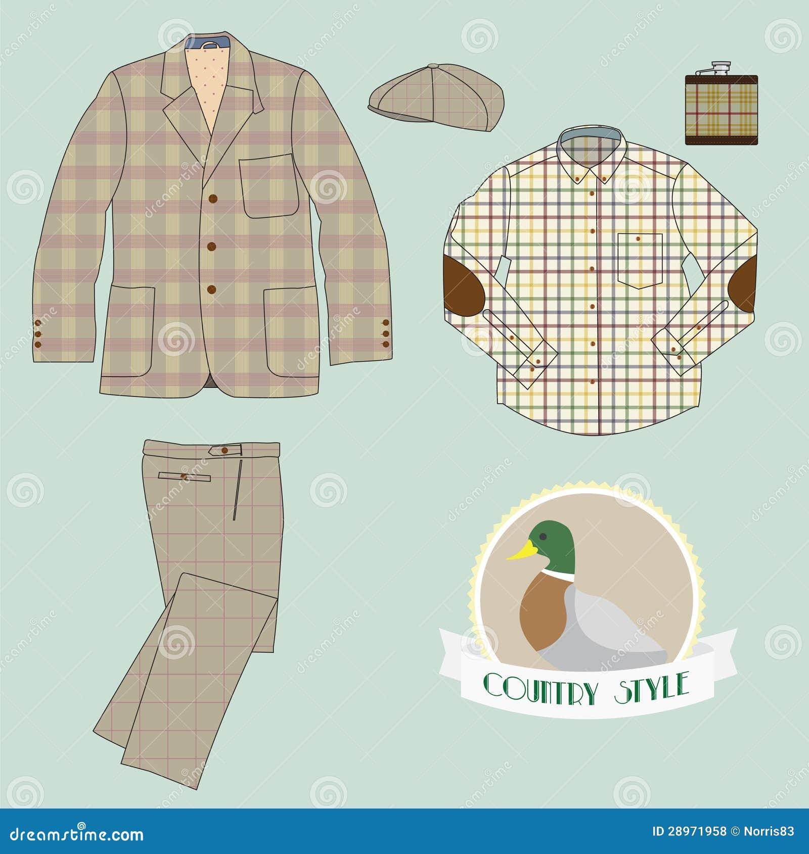 Mężczyzna odzież w kraju stylu