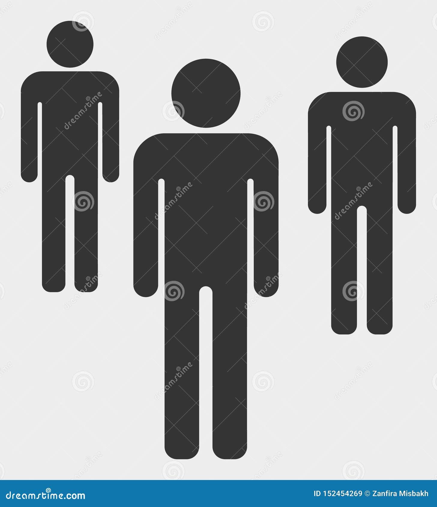 Mężczyzna postaci ikony Wektorowa ilustracja