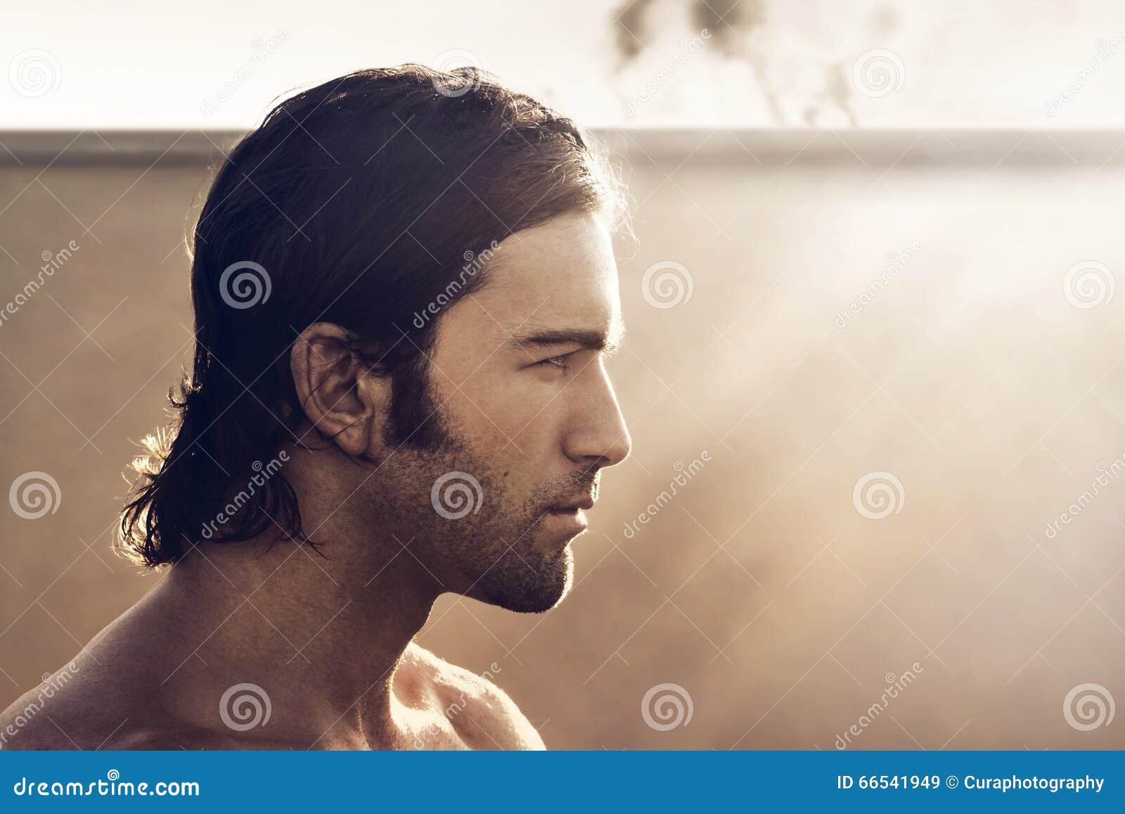 Mężczyzna profil