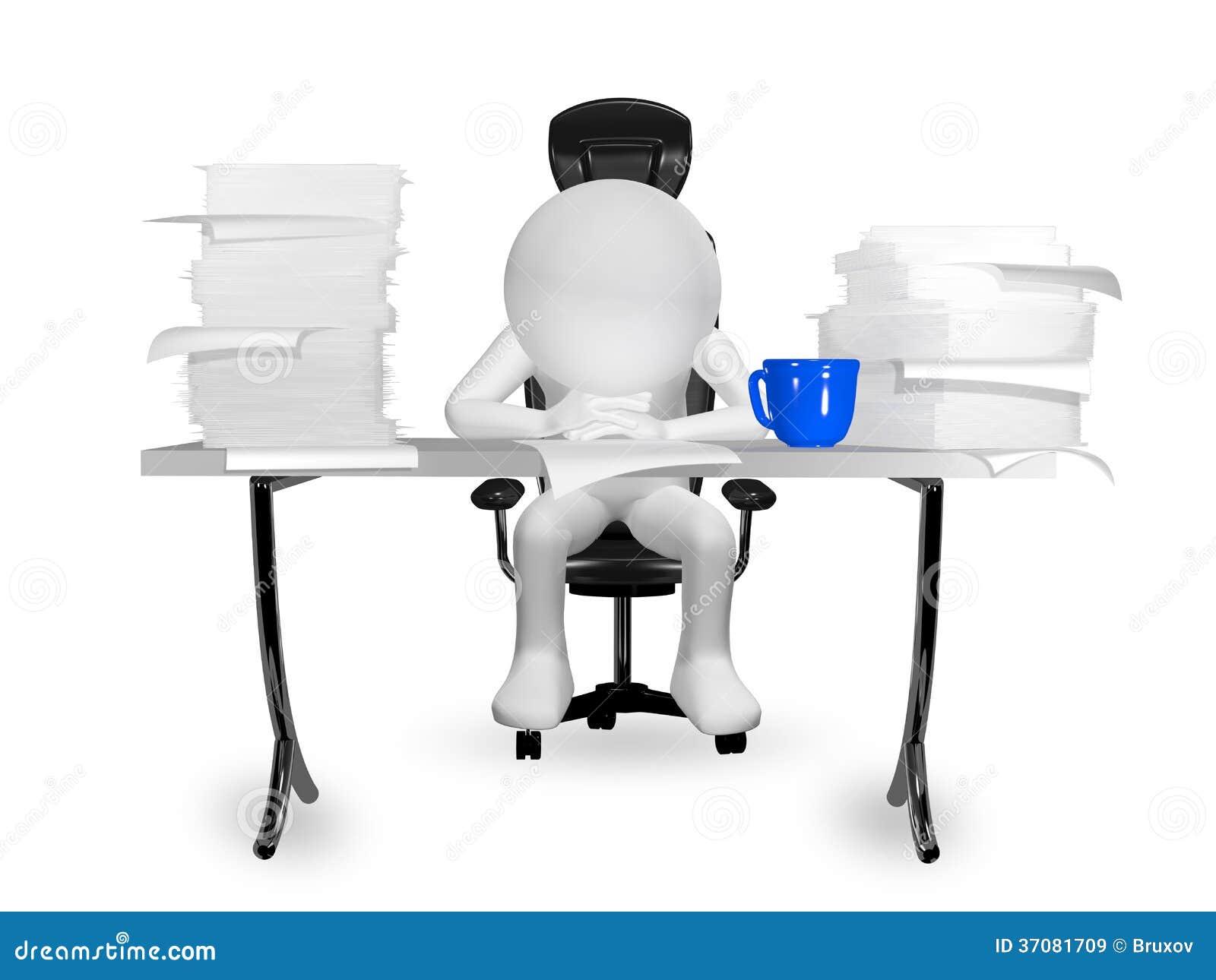 Download Mężczyzna przy stołem ilustracji. Ilustracja złożonej z praca - 37081709