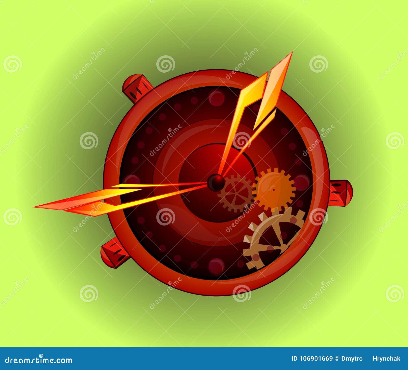 Mężczyzna ręka ogląda akcesorium Zegarka loga pojęcie Wektorowy wristwatch sylwetki symbol