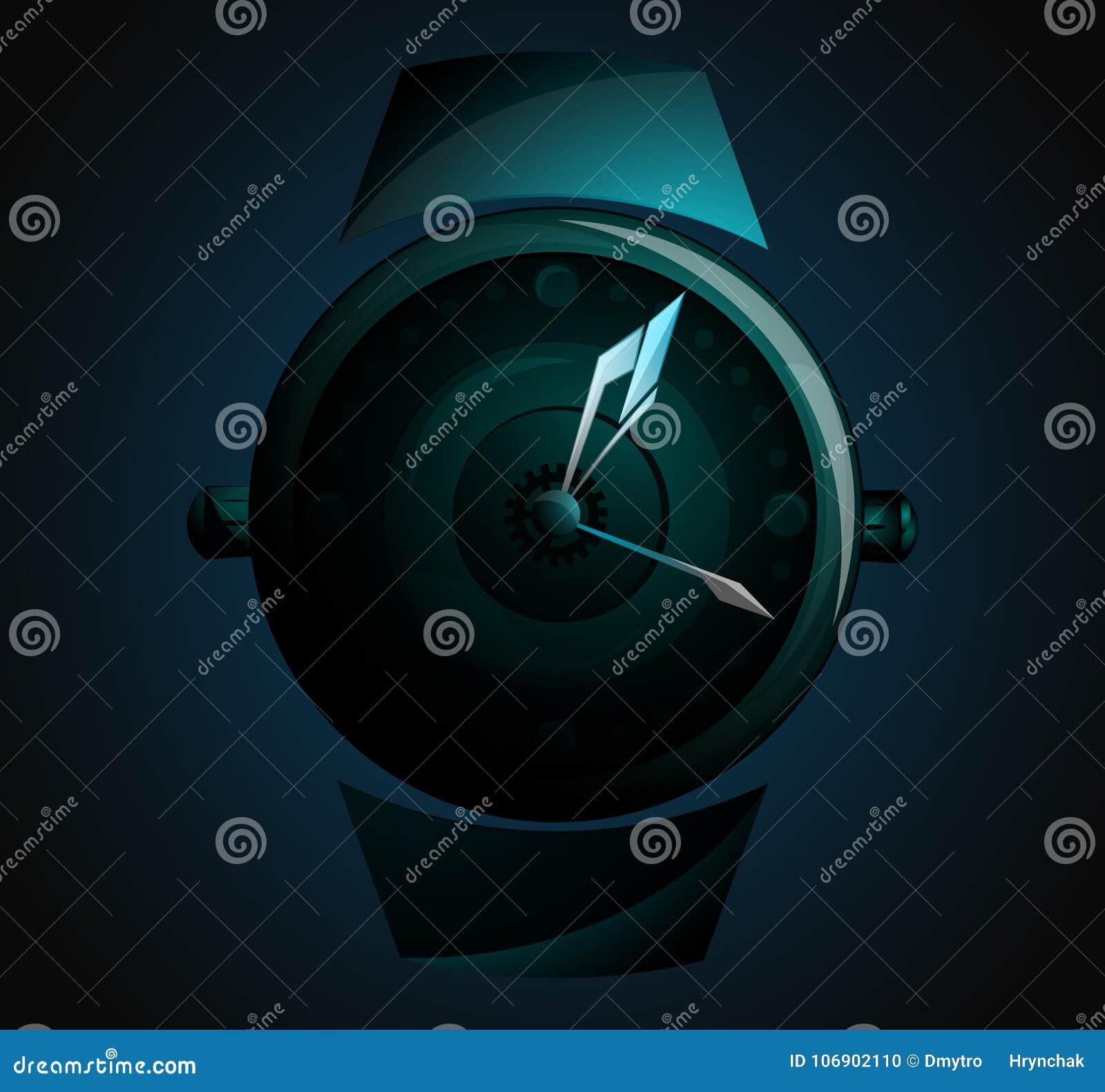 Mężczyzna ręka ogląda akcesorium Zegarka logo