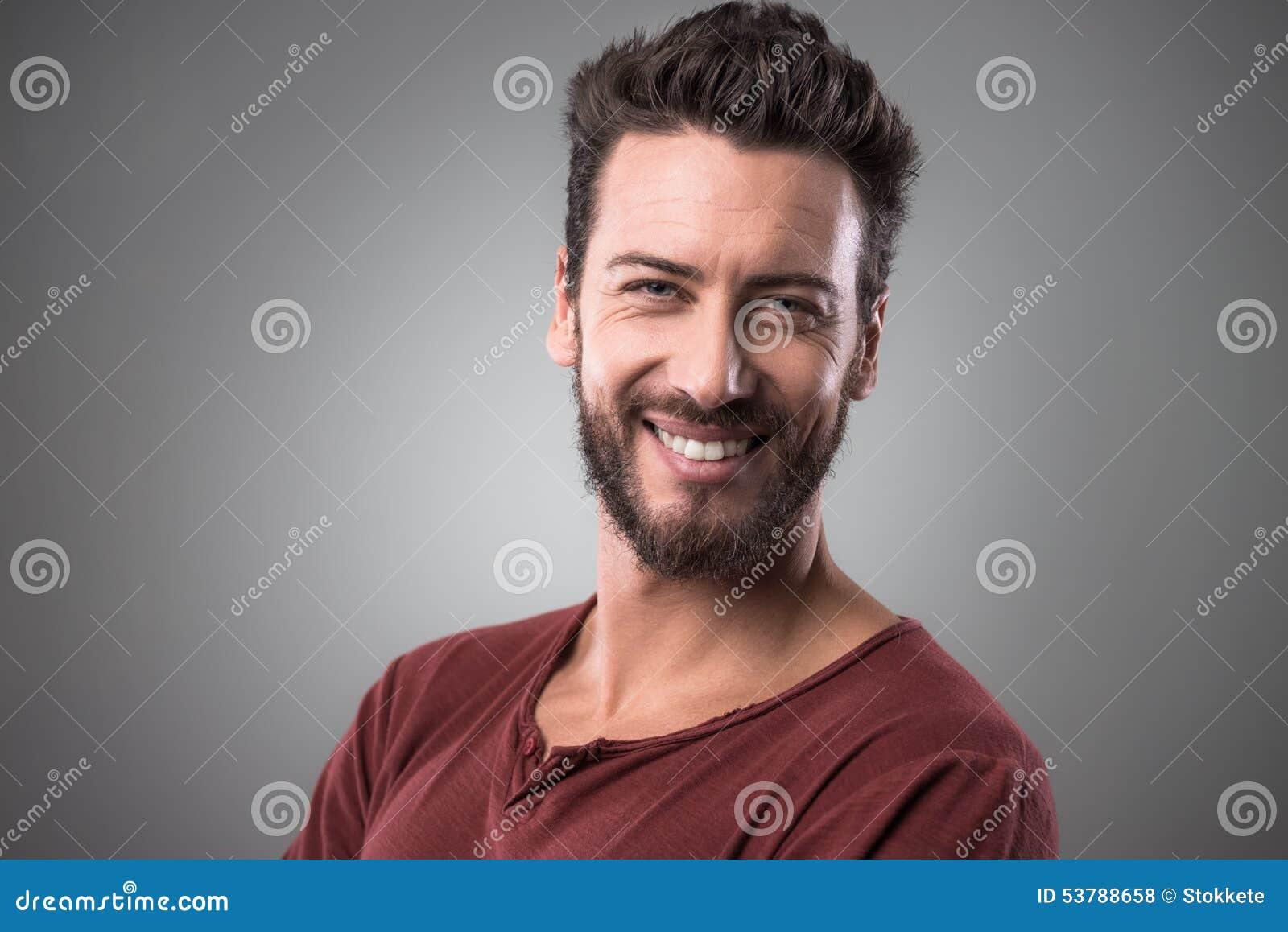 Mężczyzna rozochocony portret