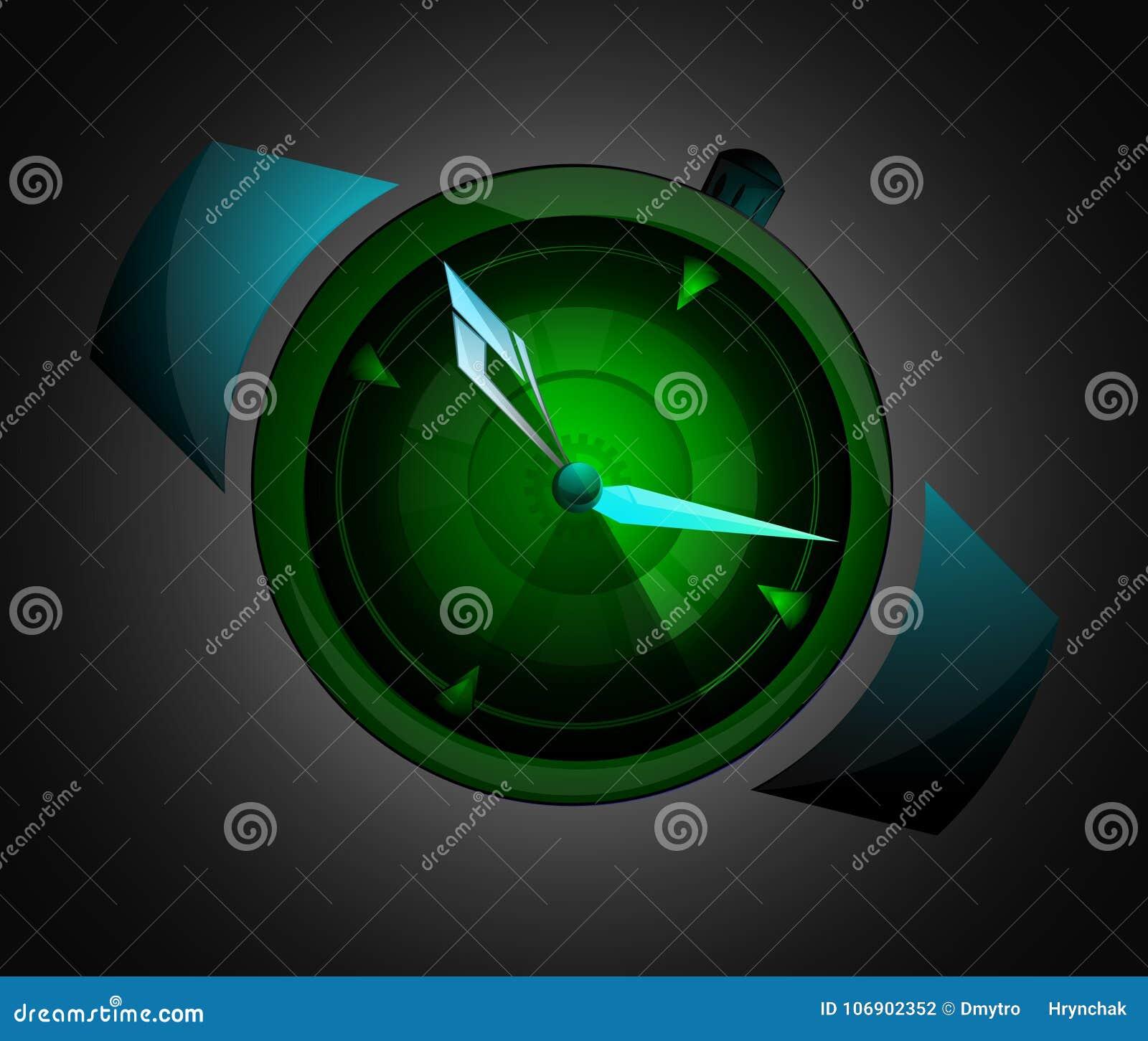 Mężczyzna ` s ręka ogląda akcesorium Zegarka loga pojęcie Wektorowy wristwatch sylwetki symbol