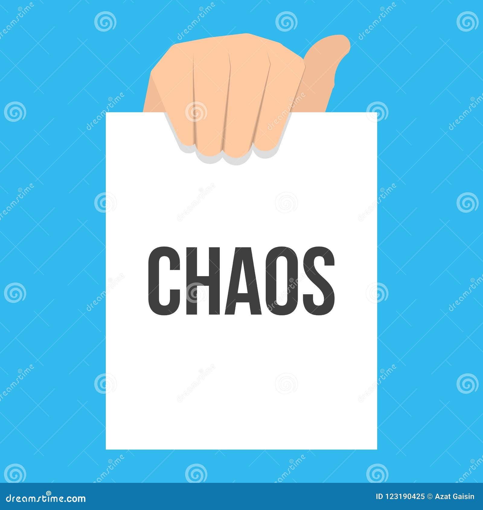 Mężczyzna seansu papieru chaosu tekst