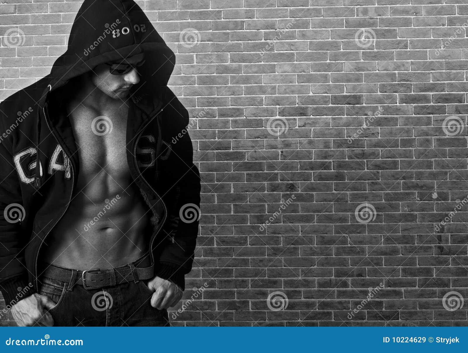 Mężczyzna seksowny mięśniowy