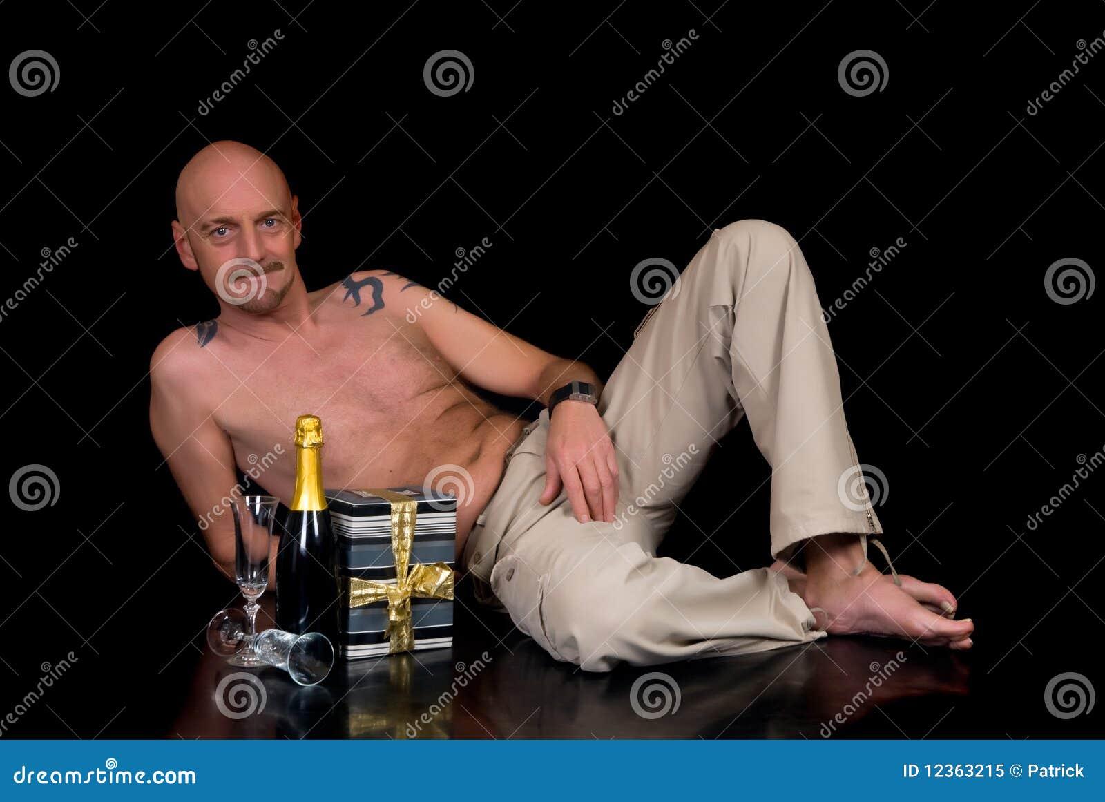 Mężczyzna starzejący się środek