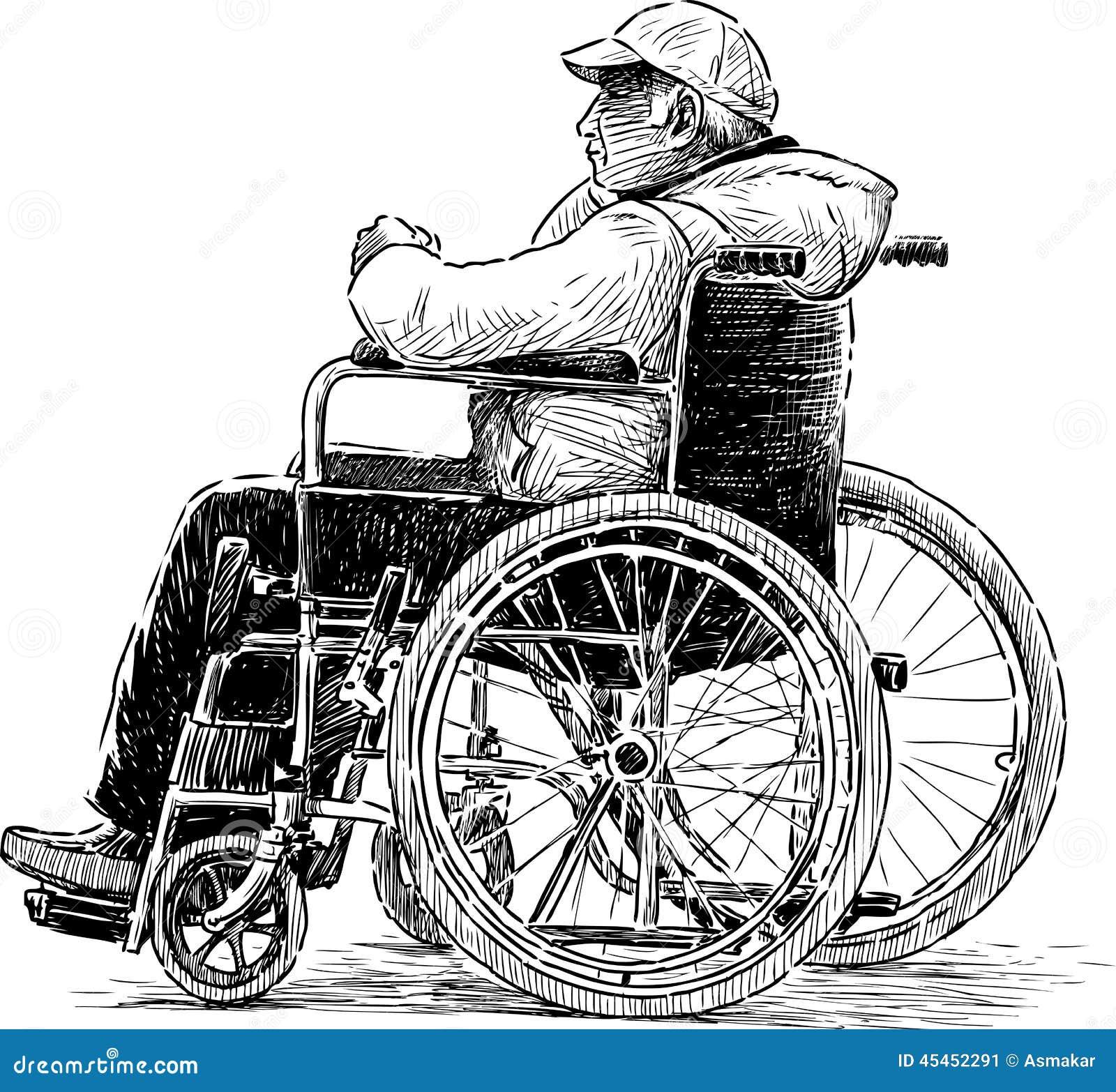 M czyzna w zek inwalidzki ilustracja wektor ilustracja for Sedie design dwg