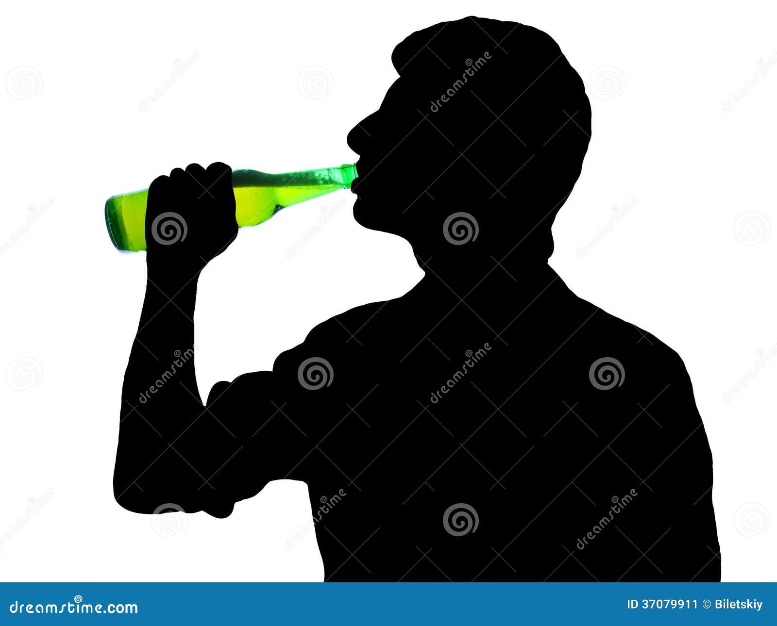 Download Mężczyzna z butelką obraz stock. Obraz złożonej z mienie - 37079911