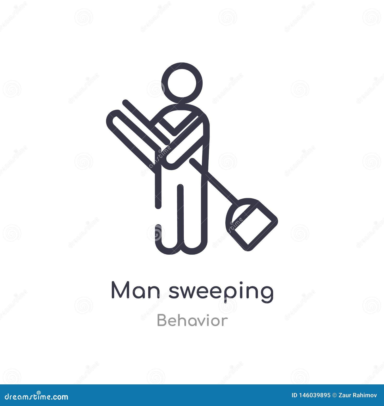 Mężczyzny konturu ogólna ikona odosobniona kreskowa wektorowa ilustracja od zachowanie kolekcji editable cienkiego uderzenie mężc