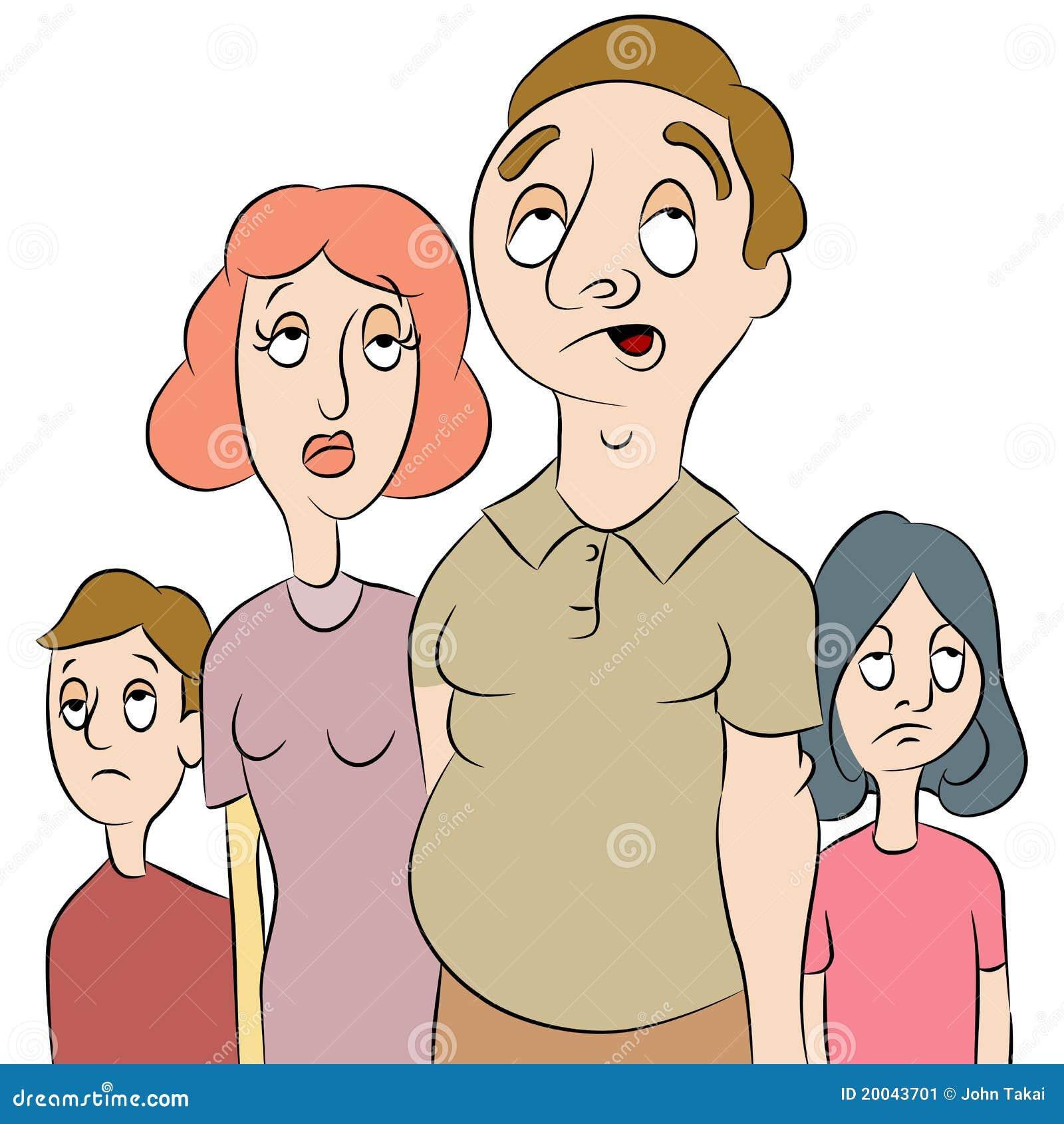 Męcząca zanudzająca rodzina