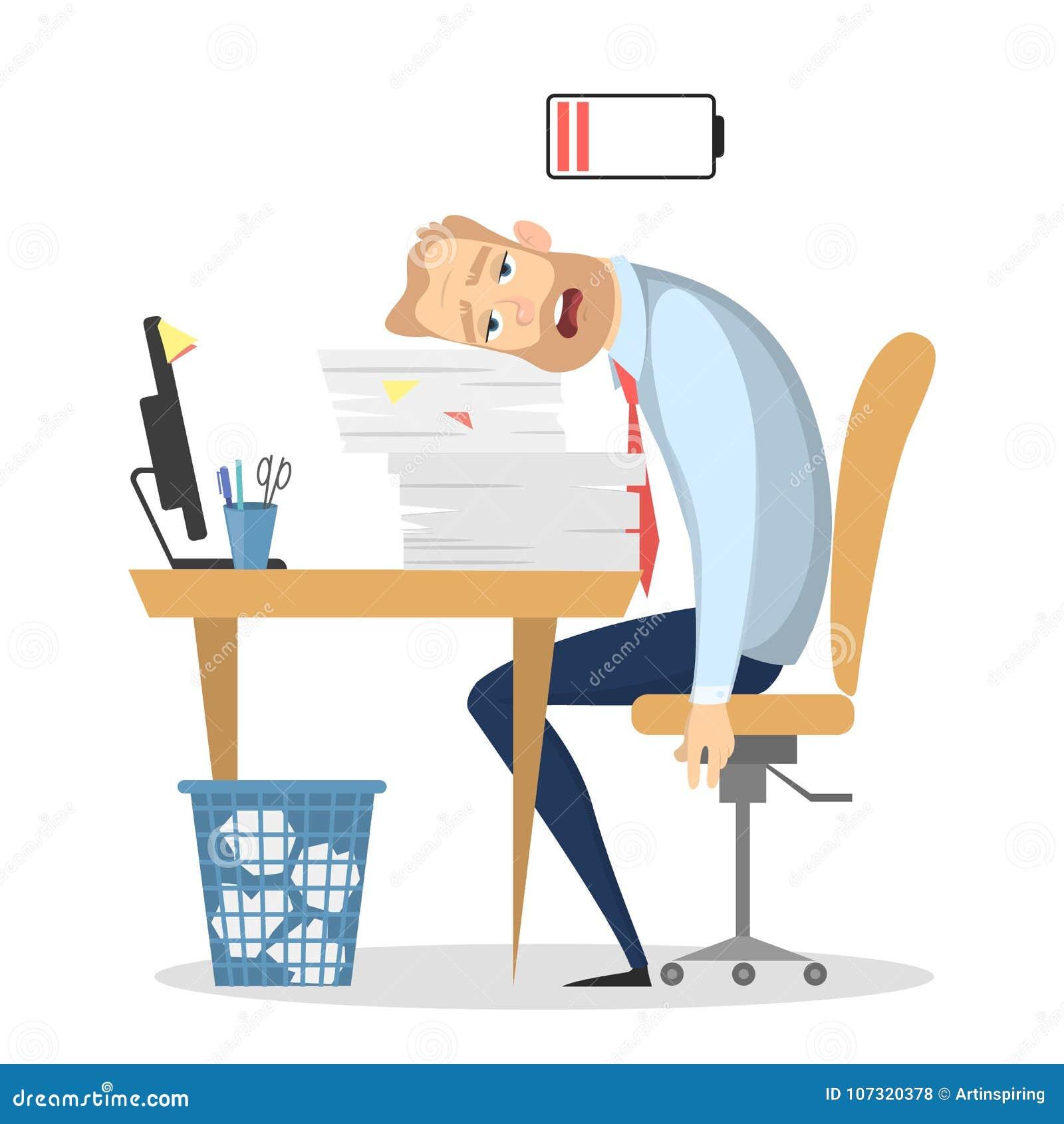 Męczący biznesmena biuro