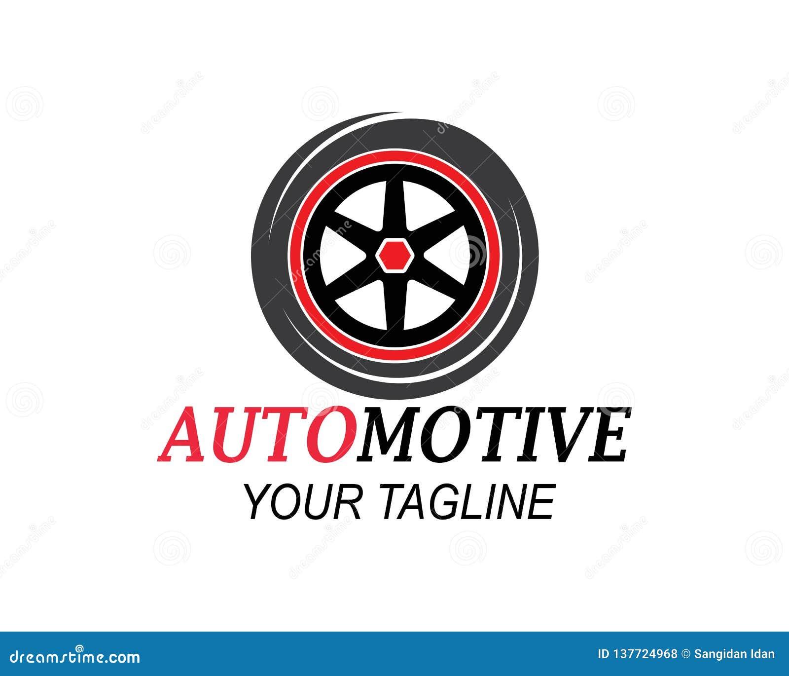 Męczy, koła automobilowy ikona logo vectortemplate