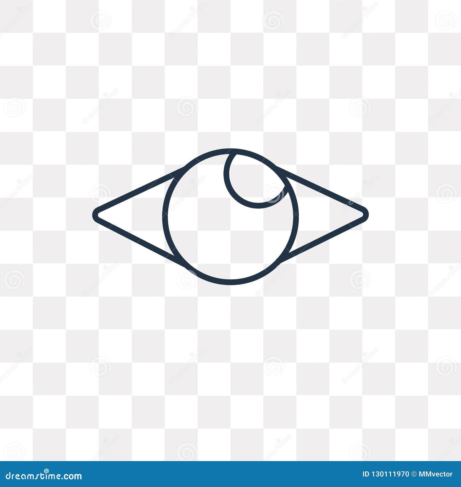 Męczy wektorową ikonę na przejrzystym tle, liniowy F