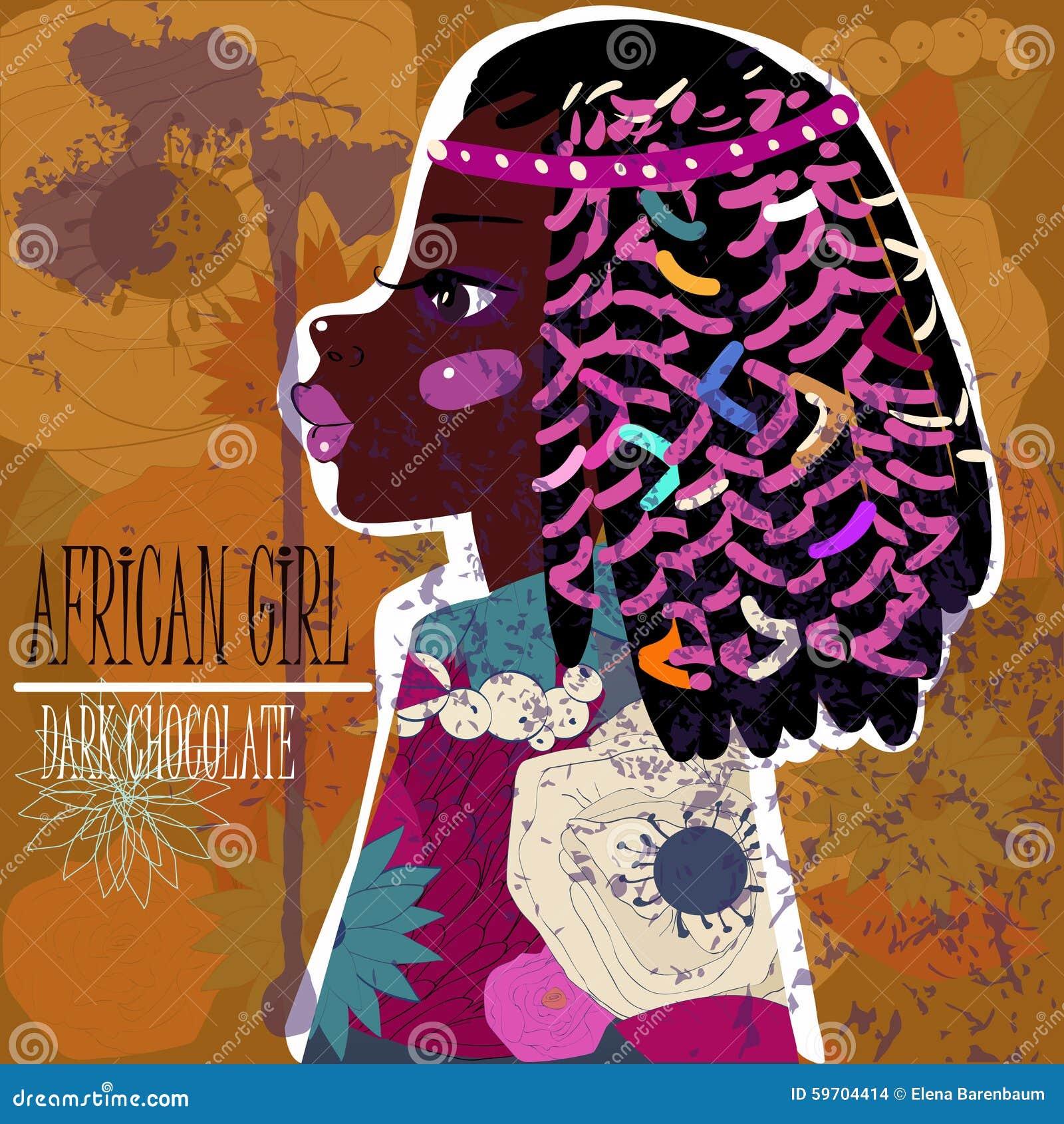Młoda beautyful afrykańska kobieta