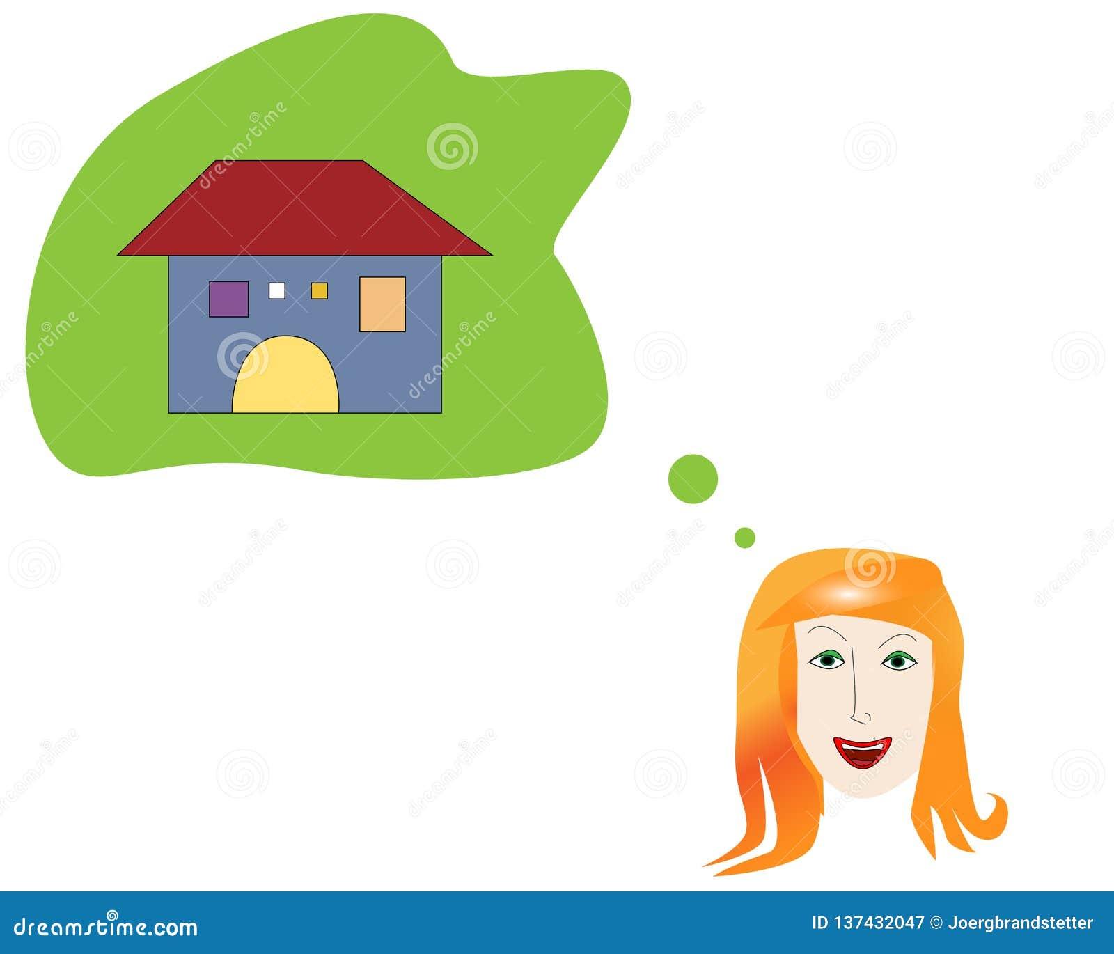 Młoda kobieta target948_0_ jej domy dom