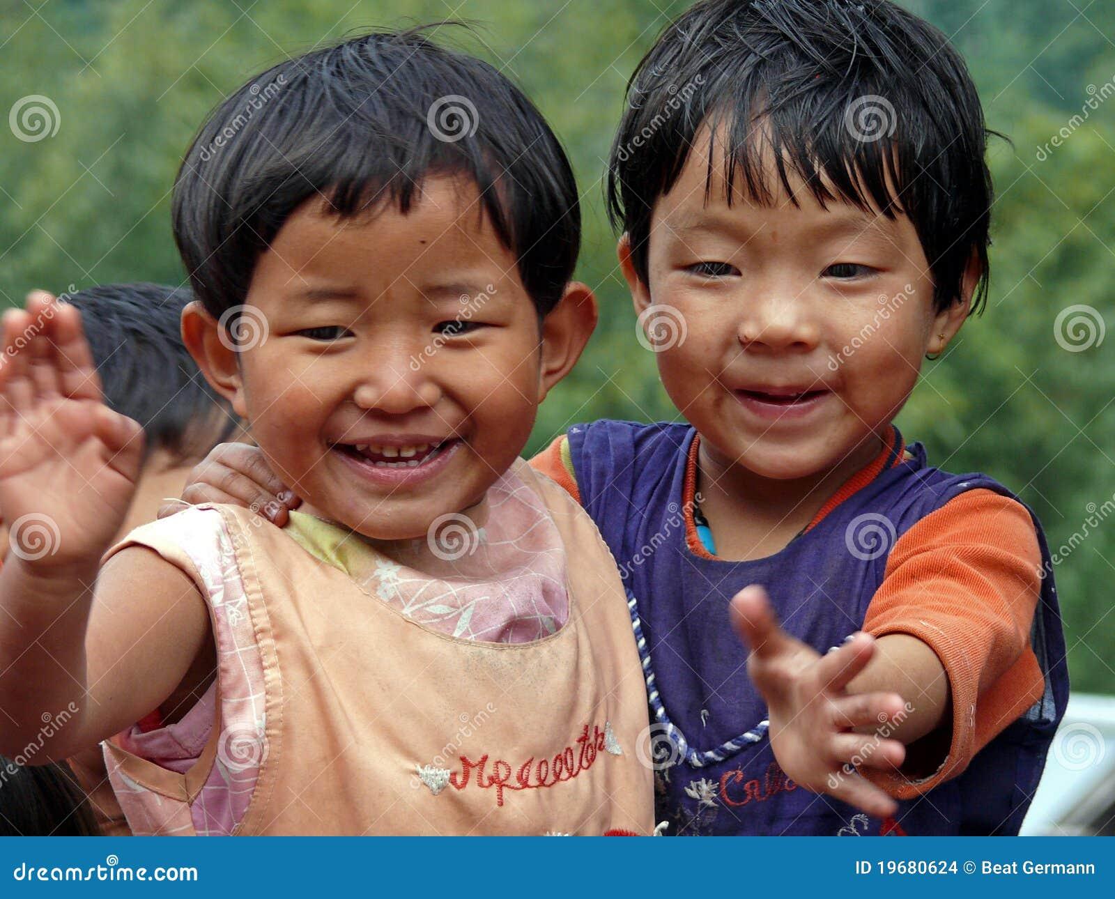 Młode Bhutan chłopiec