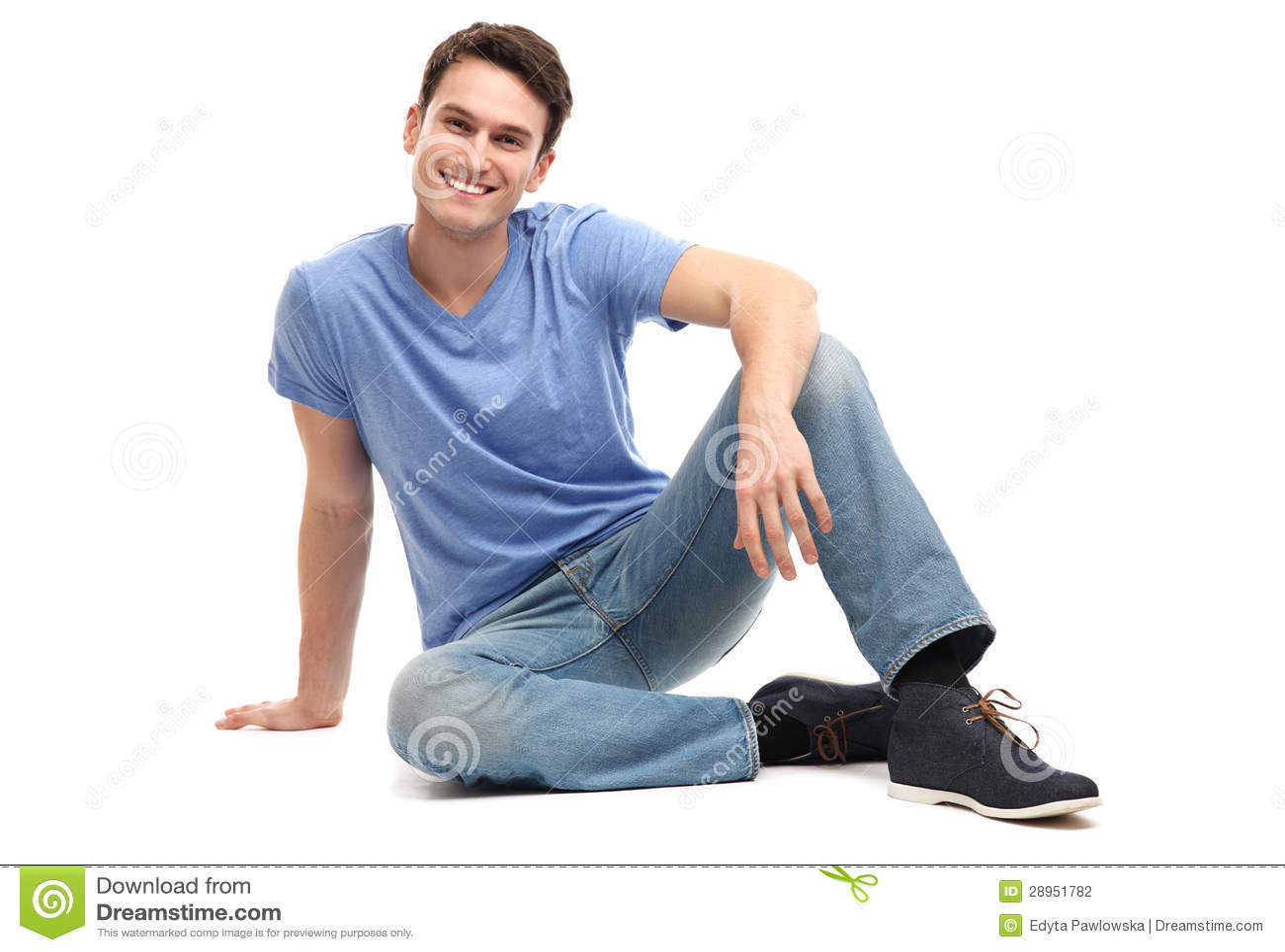 Młodego człowieka obsiadanie