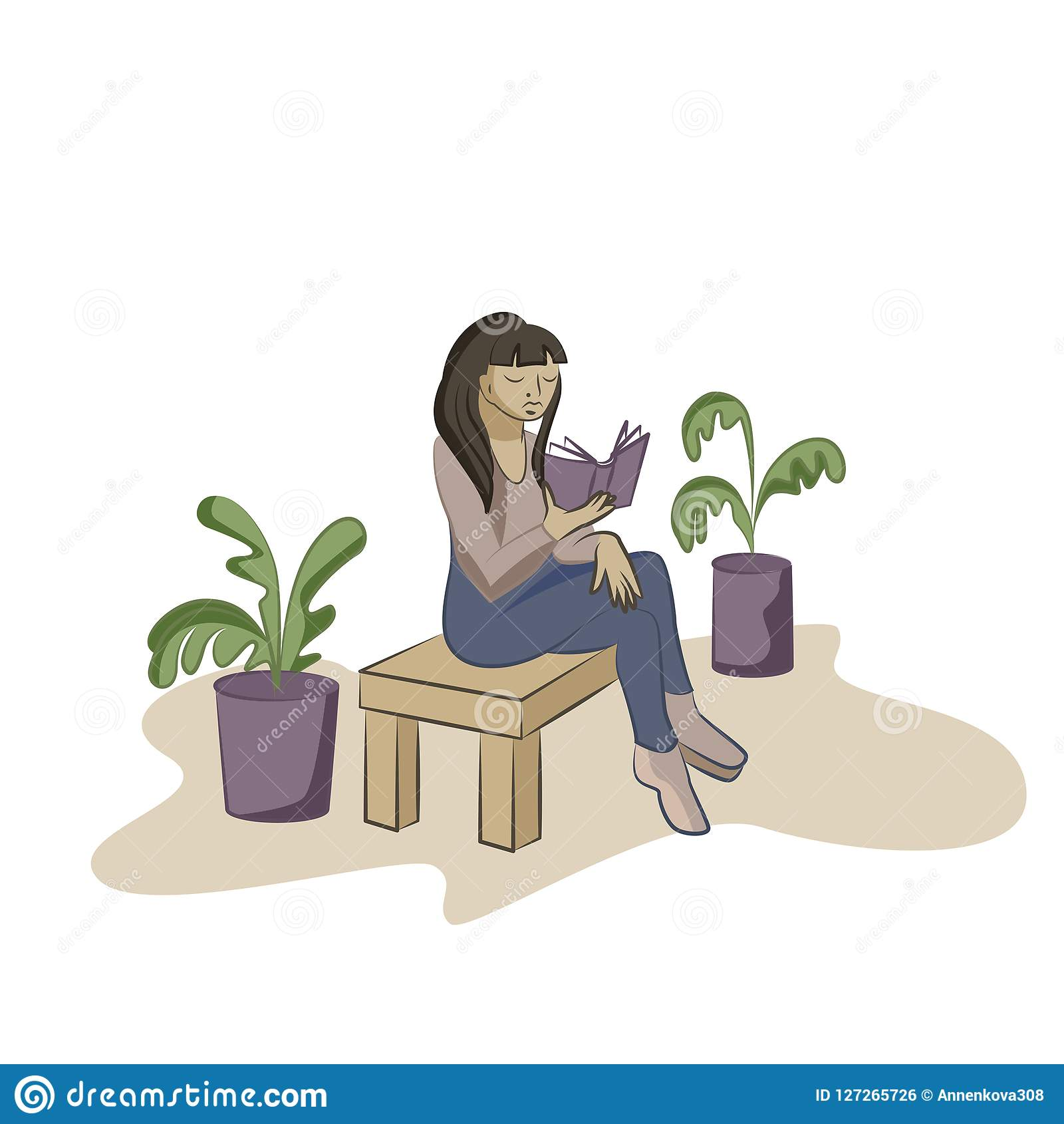 Młodej kobiety czytelnicza książka na krześle w biurze