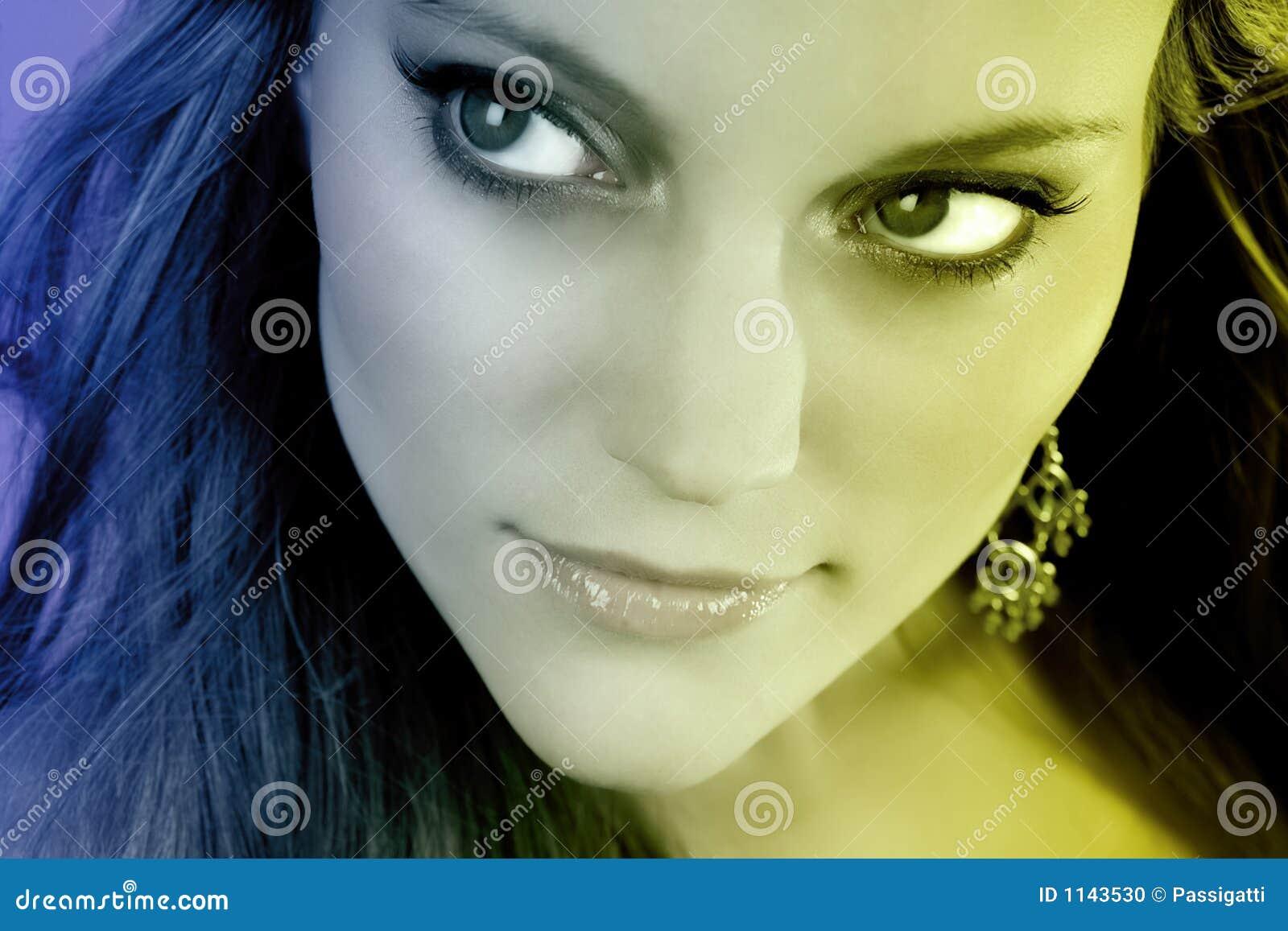 Młodej Kobiety Twarzy Close-up