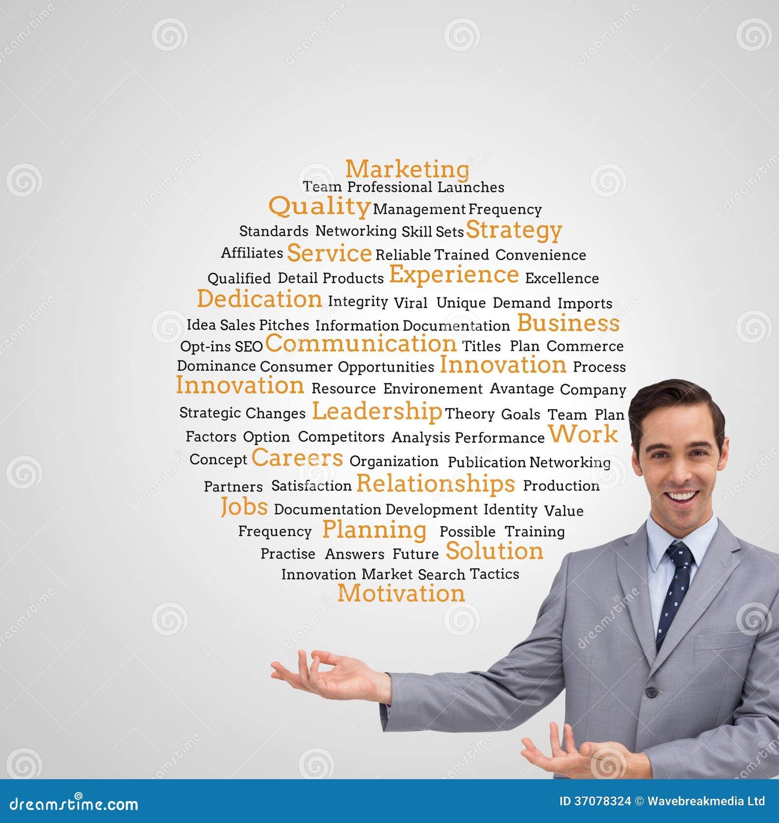 Download Młody Biznesmen Przedstawia Coś Zdjęcie Stock - Obraz złożonej z dyplomowany, standardy: 37078324