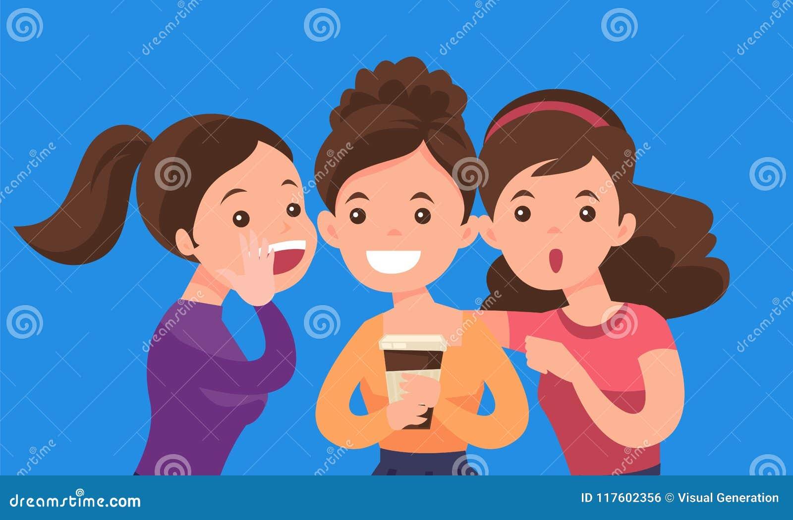 Młody caucasian białych kobiet dzielić plotkuje