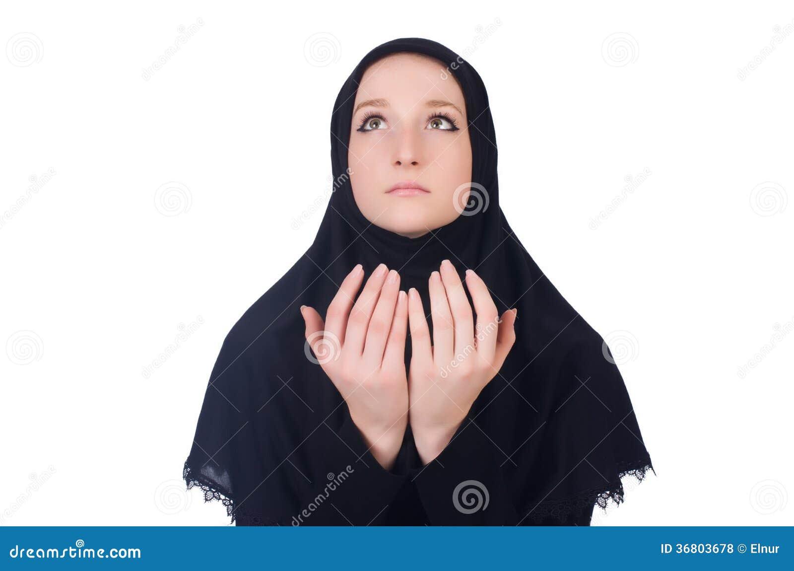 Młody muzułmański kobiety modlenie