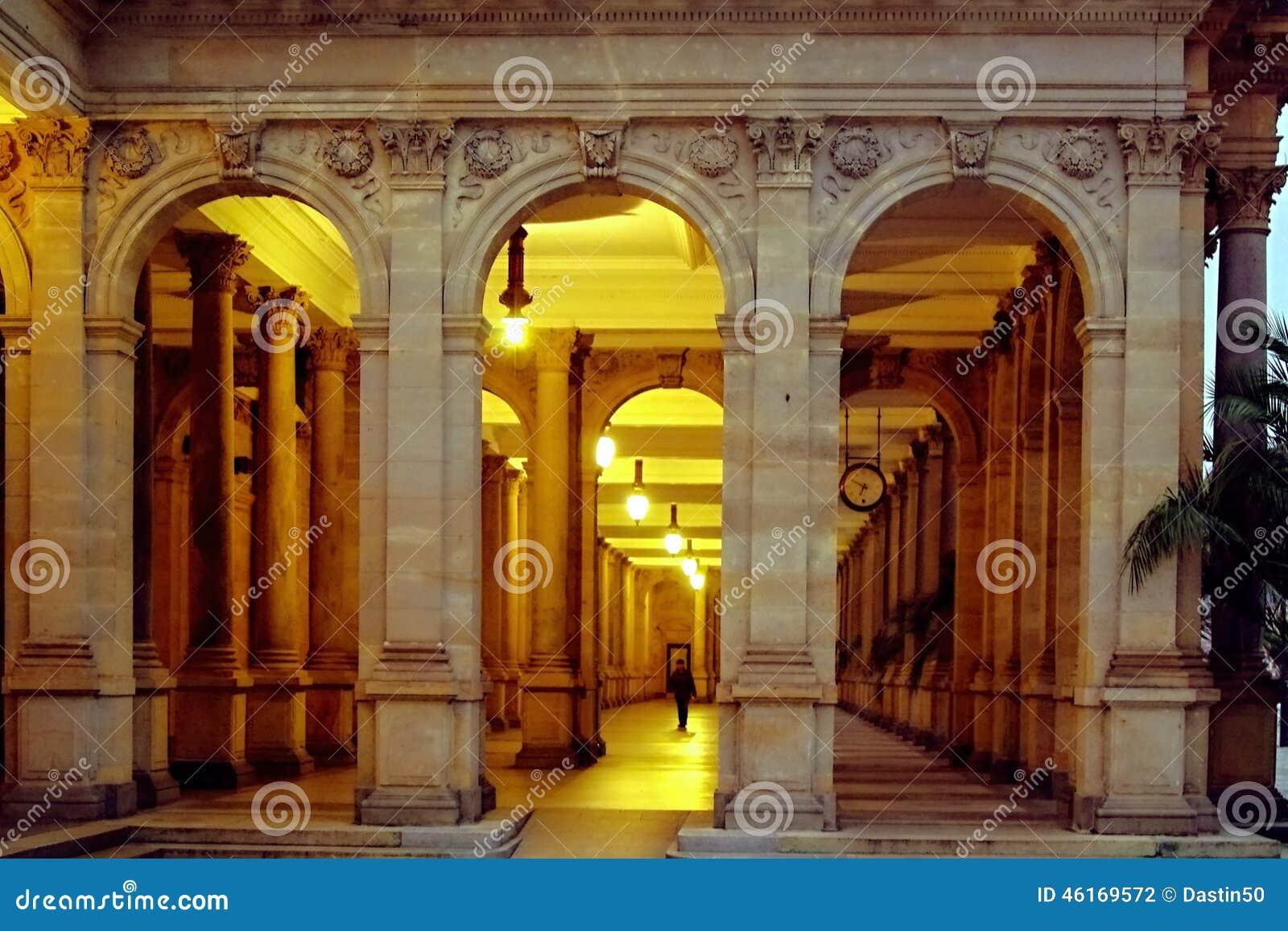 Młyńska kolumnada, Karlovy Zmienia, republika czech