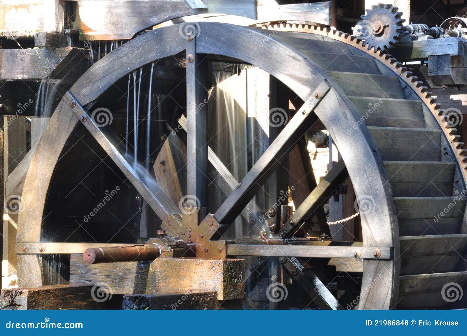 Młyński stary waterwheel