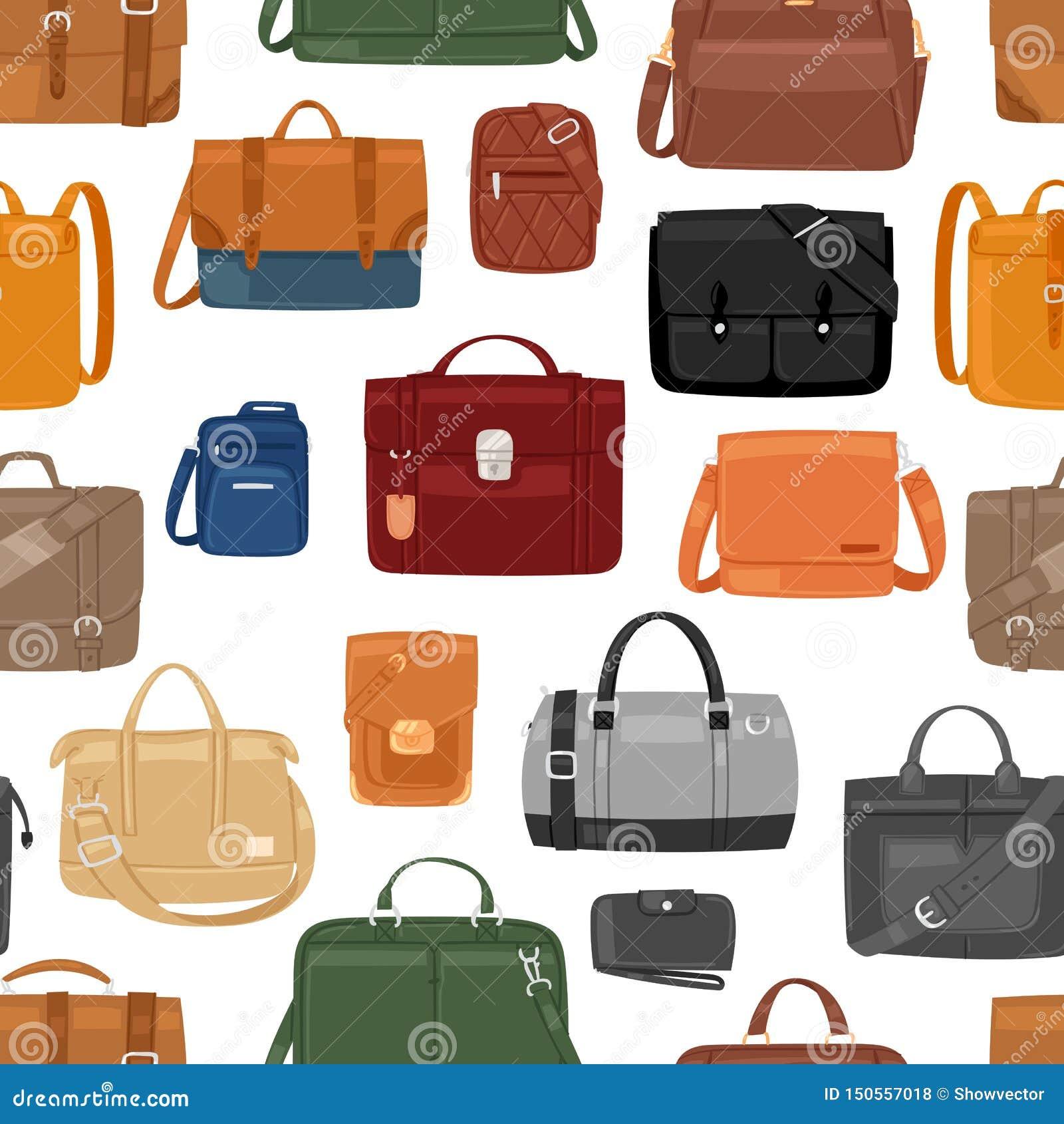 M??czyzna torby wektorowi m??czyzna fasonuj? torebki, biznes sk?ry lub teczki notecase biznesmena ilustracyjny manlike zdob?d?cy