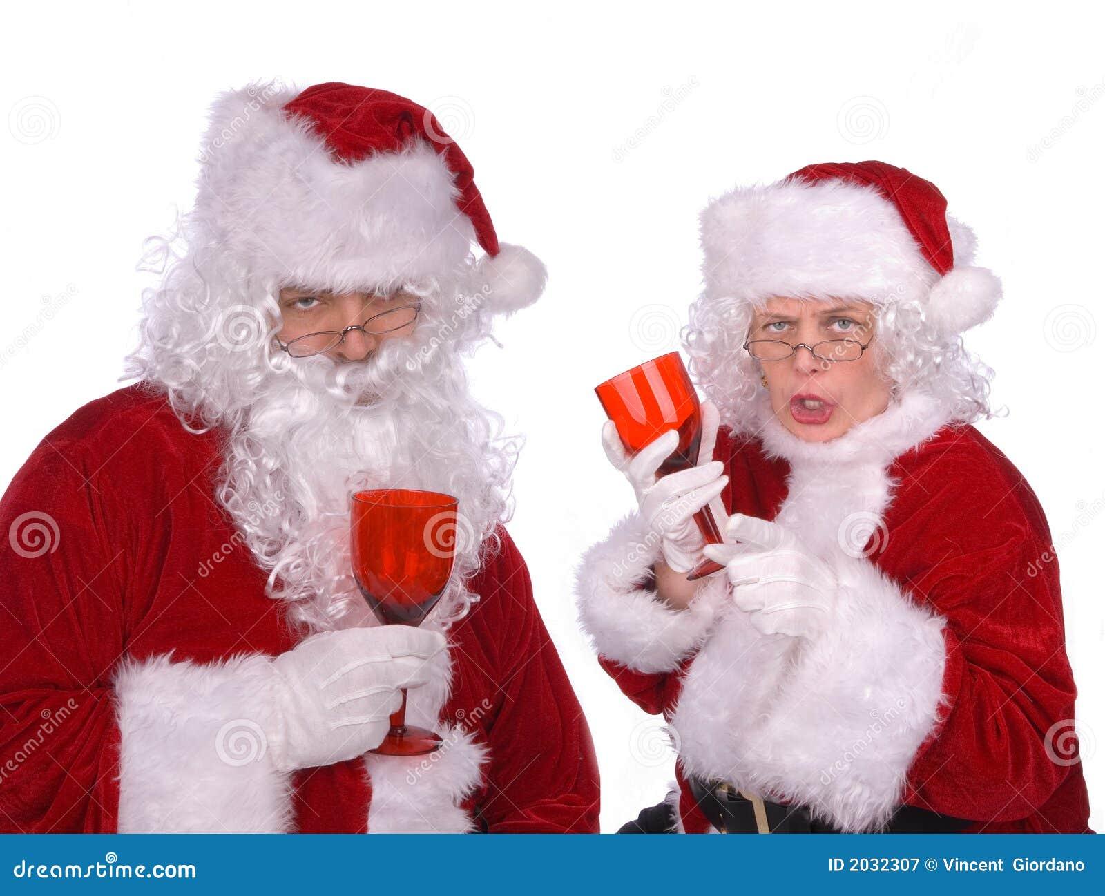 M. en Mevr. Claus zijn gedronken