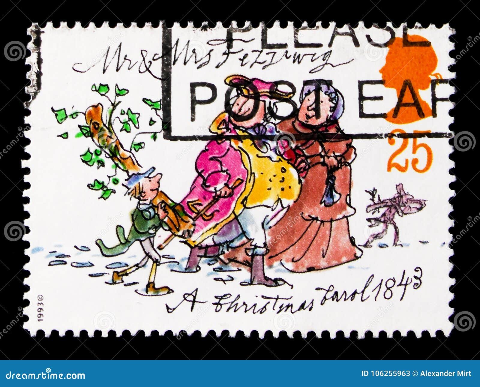 M. en Mevr. Fezziwig, Kerstmis 1993 - Verjaardag van Publicatie van ` Kerstmis Carol ` serie, circa 1993