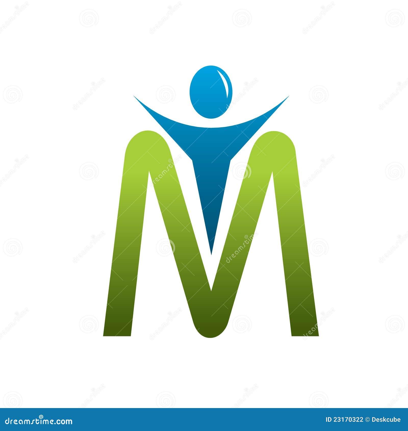 M Images M Letter Man Logo Stoc...