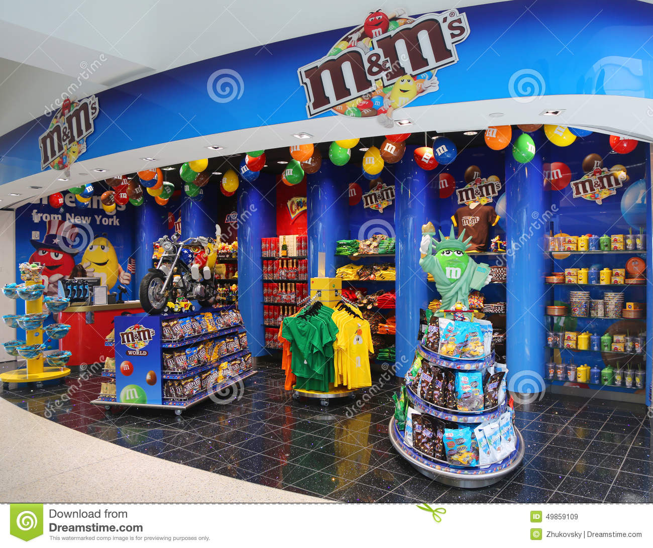 M&M Candy Store Located At Terminal 7 In JFK Airport Editorial Stock ...